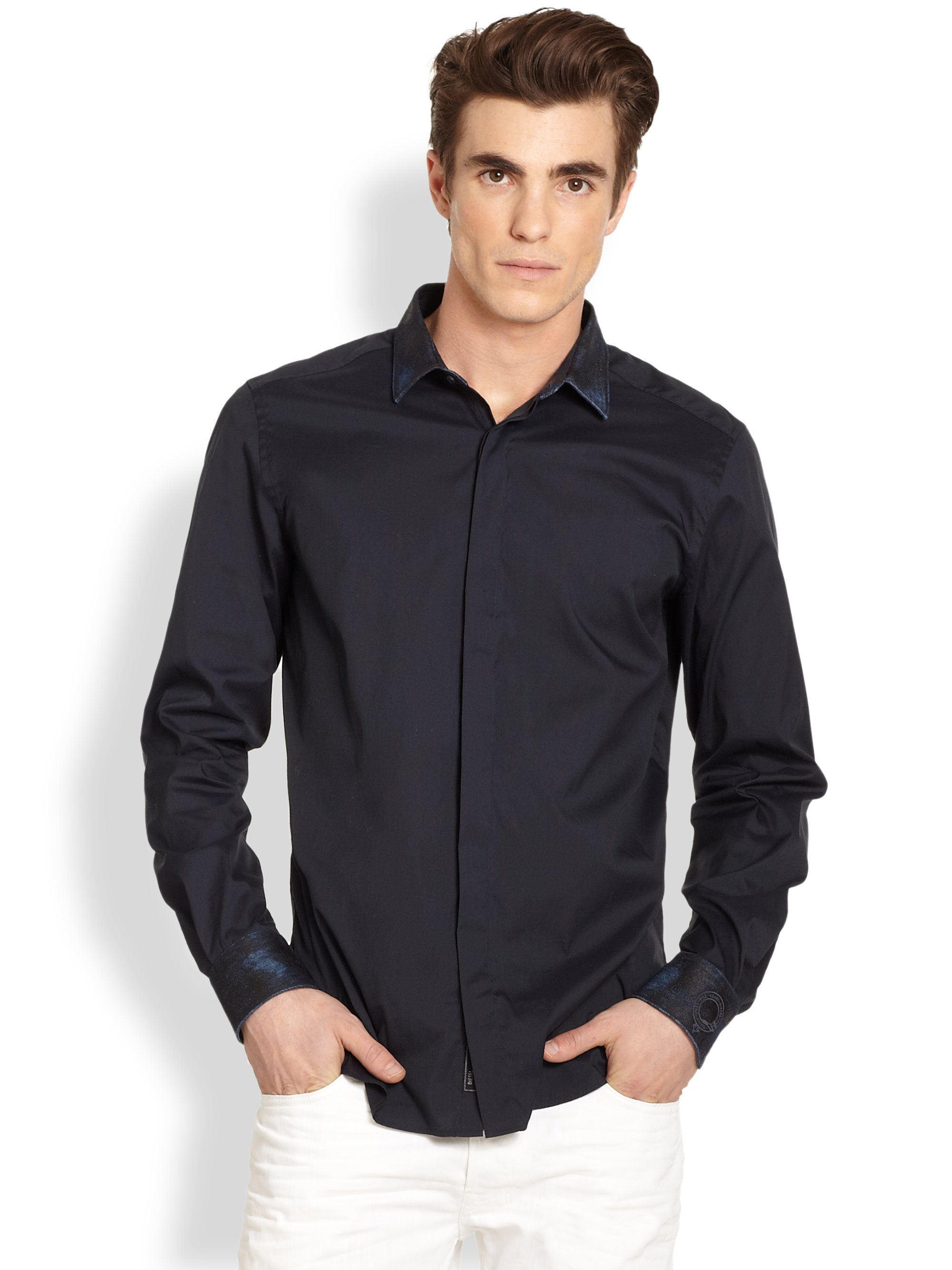 Dark Grey Button Down Shirt - Greek T Shirts