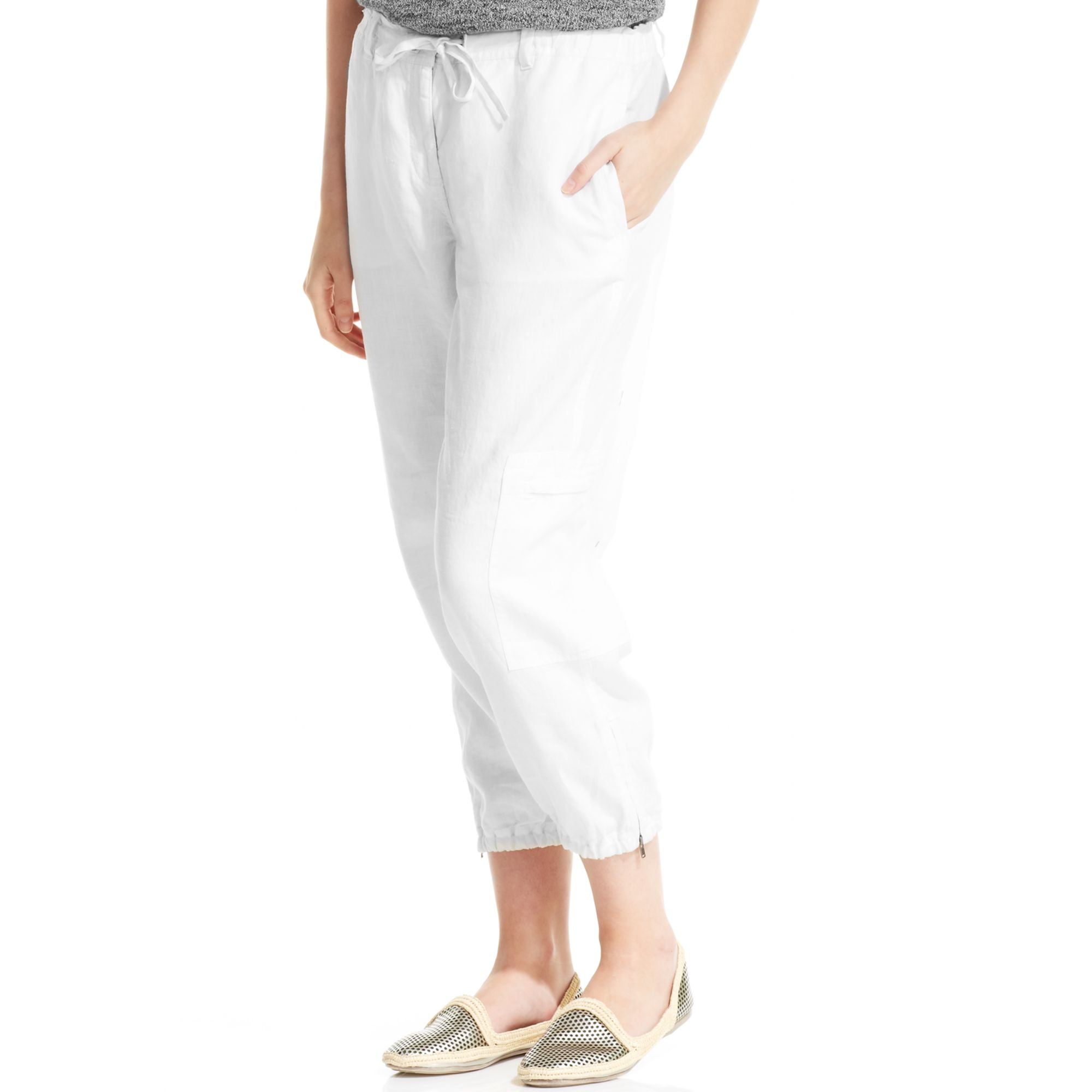Linen Cargo Pants Womens Pant So