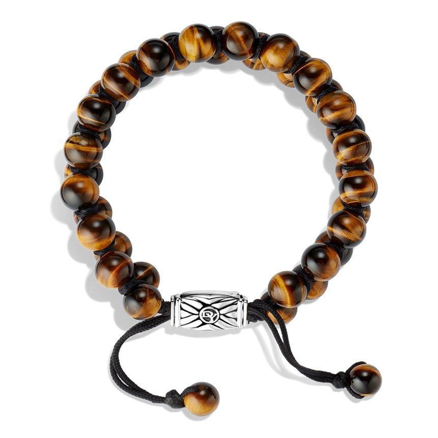 David Yurman Spiritual Beads Tworow Bracelet With Tigers
