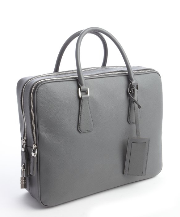 Prada Mercury Saffiano Leather Small Travel Bag in Gray for Men | Lyst