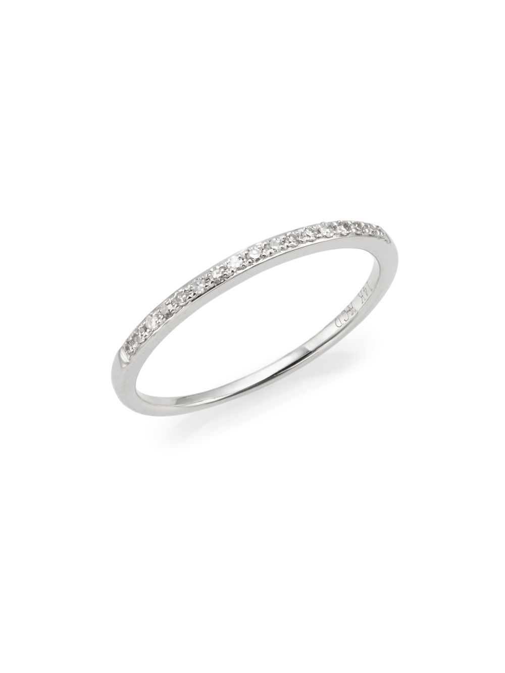 Lyst - Kc Designs Brilliant Diamond & 14k White Gold Midi Ring in ...