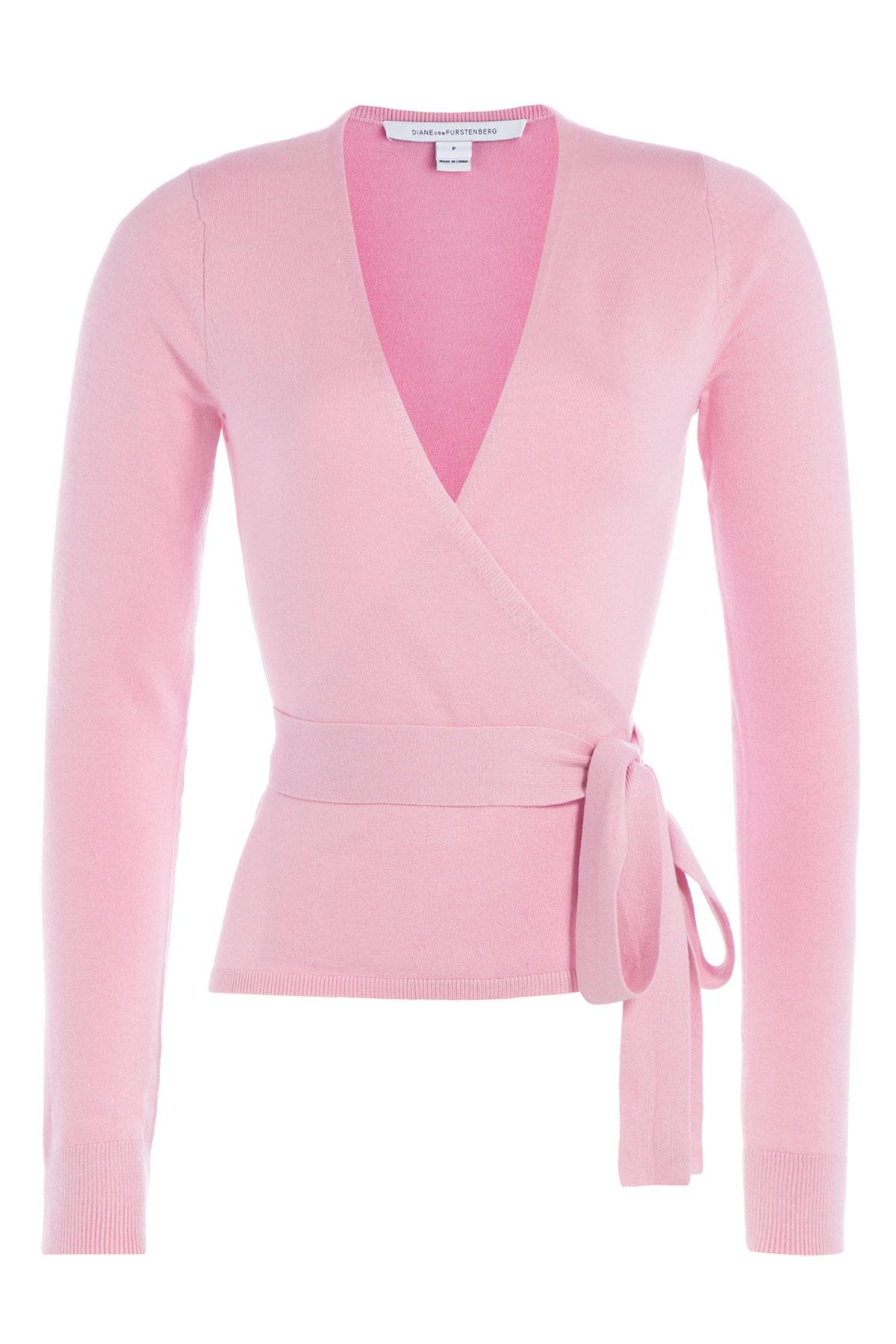 Diane von furstenberg Wrap Around Cardigan With Silk And Cashmere ...