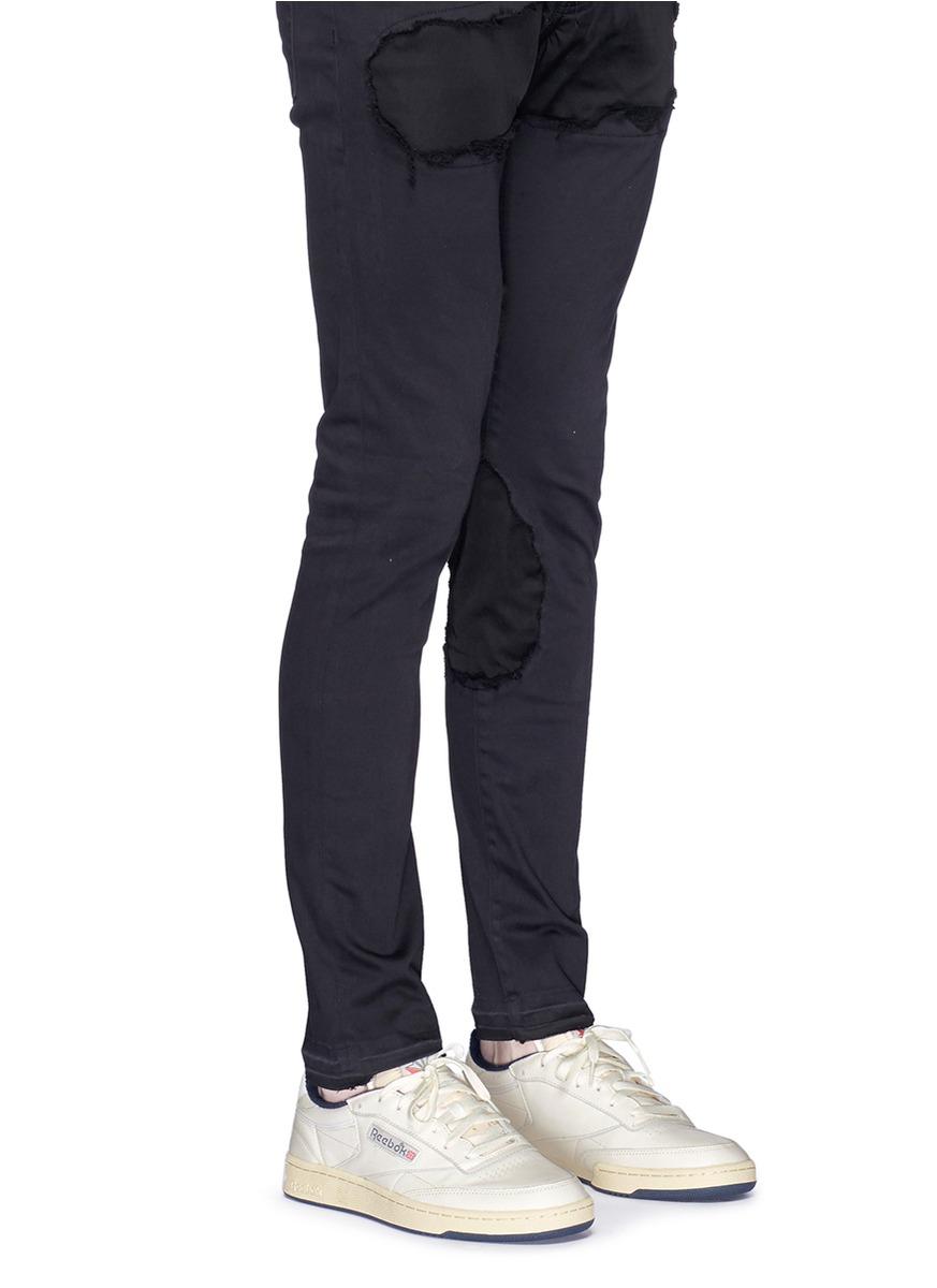 7c9956b2c2df1 reebok classic leather vintage black pants