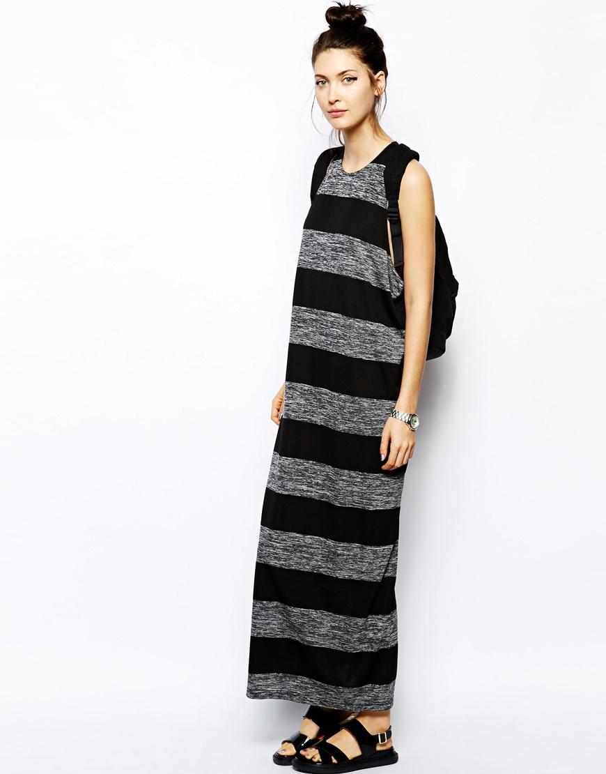 Lyst Cheap Monday Drop Armhole Stripe Tank Dress In Black