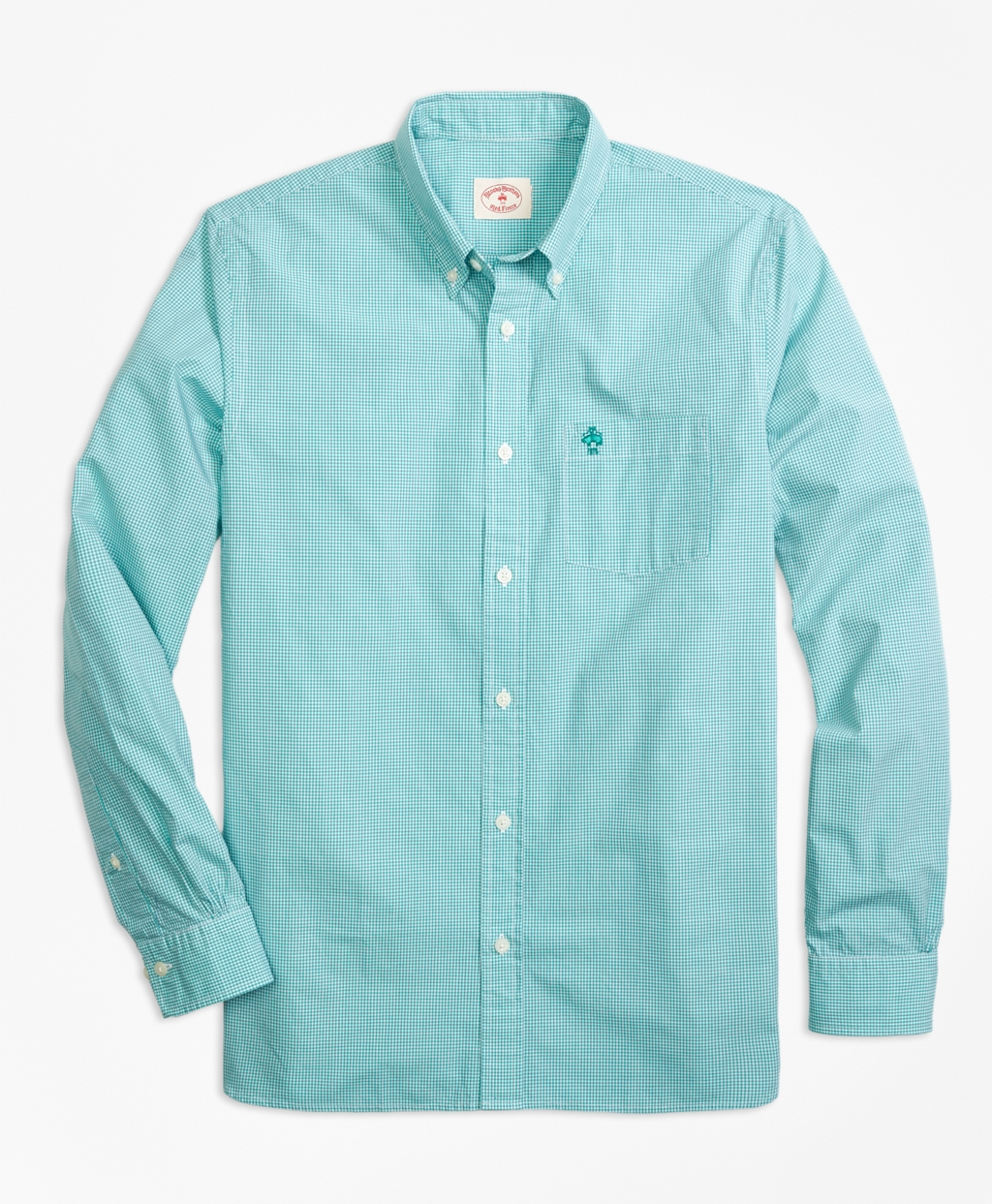 Lyst brooks brothers gingham sport shirt in green for men for Brooks brothers sports shirts