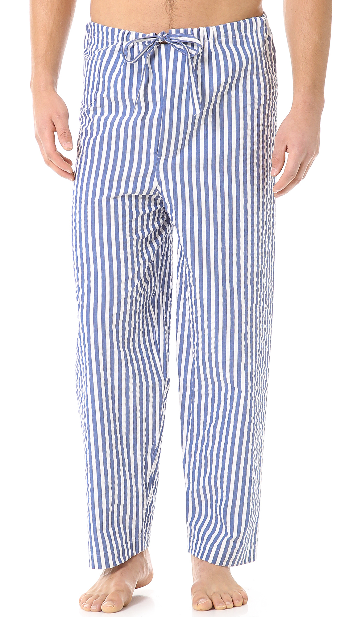 Lyst - Alexander Olch Seersucker Pajama Set in Blue for Men d88b9884e