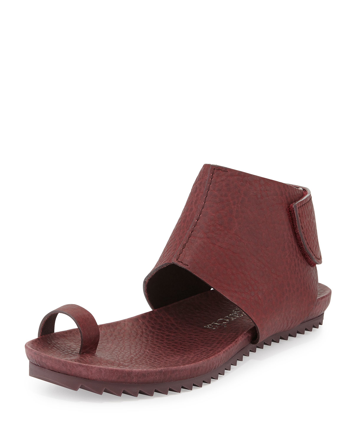 Pedro Garcia Vania Leather Toe Ring Sandals In Red Lyst