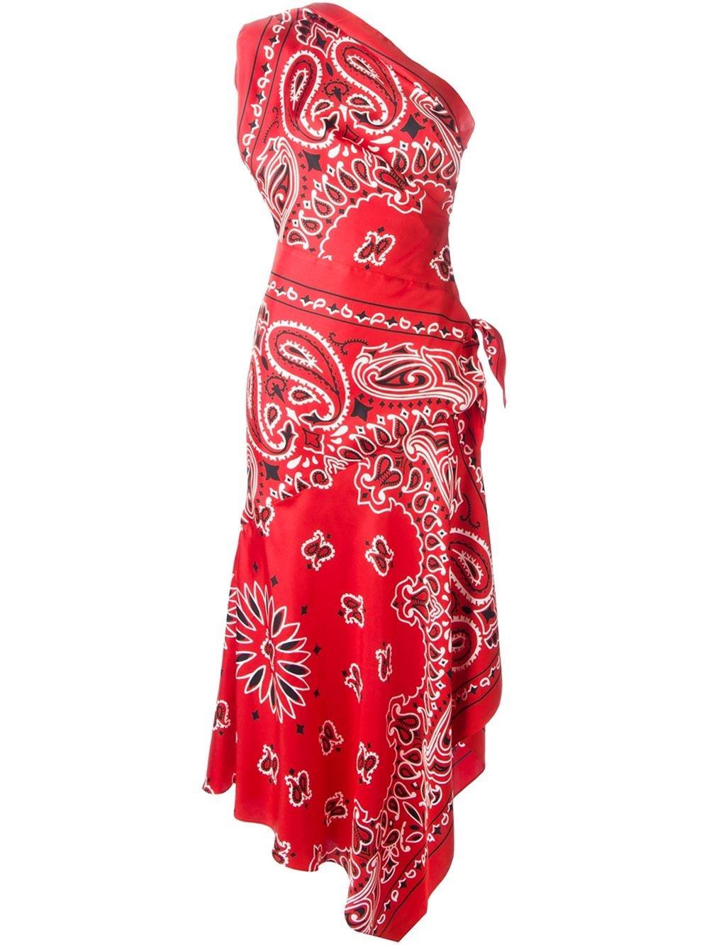 moschino bandana print evening dress in lyst