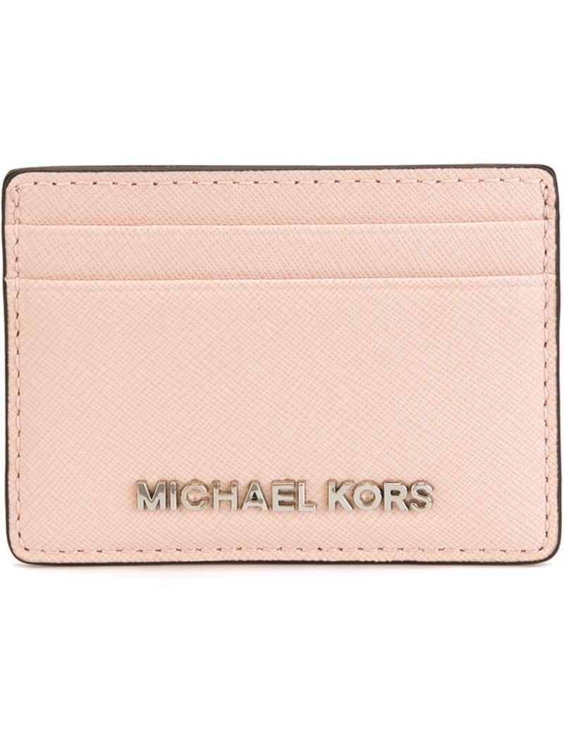3a9ffed6ab24 Lyst - MICHAEL Michael Kors  jet Set Travel  Cardholder in Pink