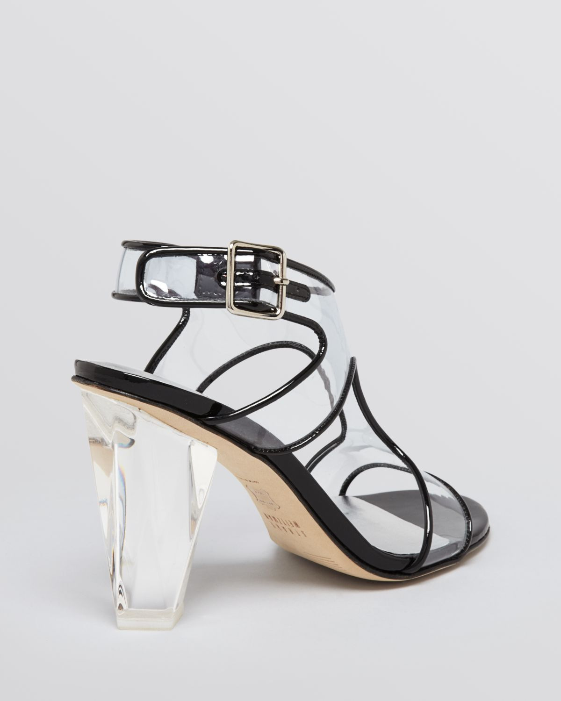 Lyst - Stuart Weitzman Jelly Sandals Seeall Lucite High Heel in Black