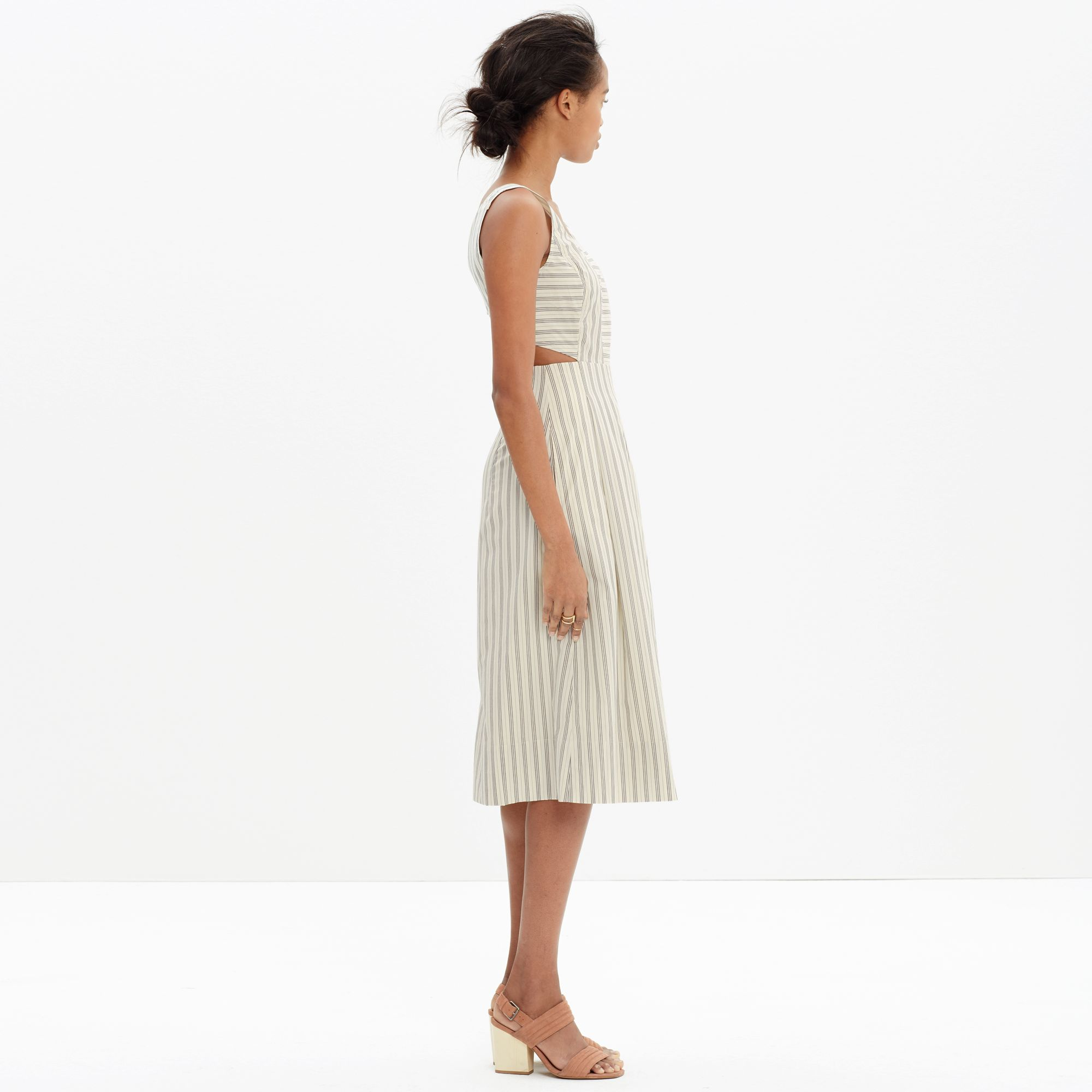 be4ed91ef62 Madewell Cutout Sundress In Stripe in Gray - Lyst