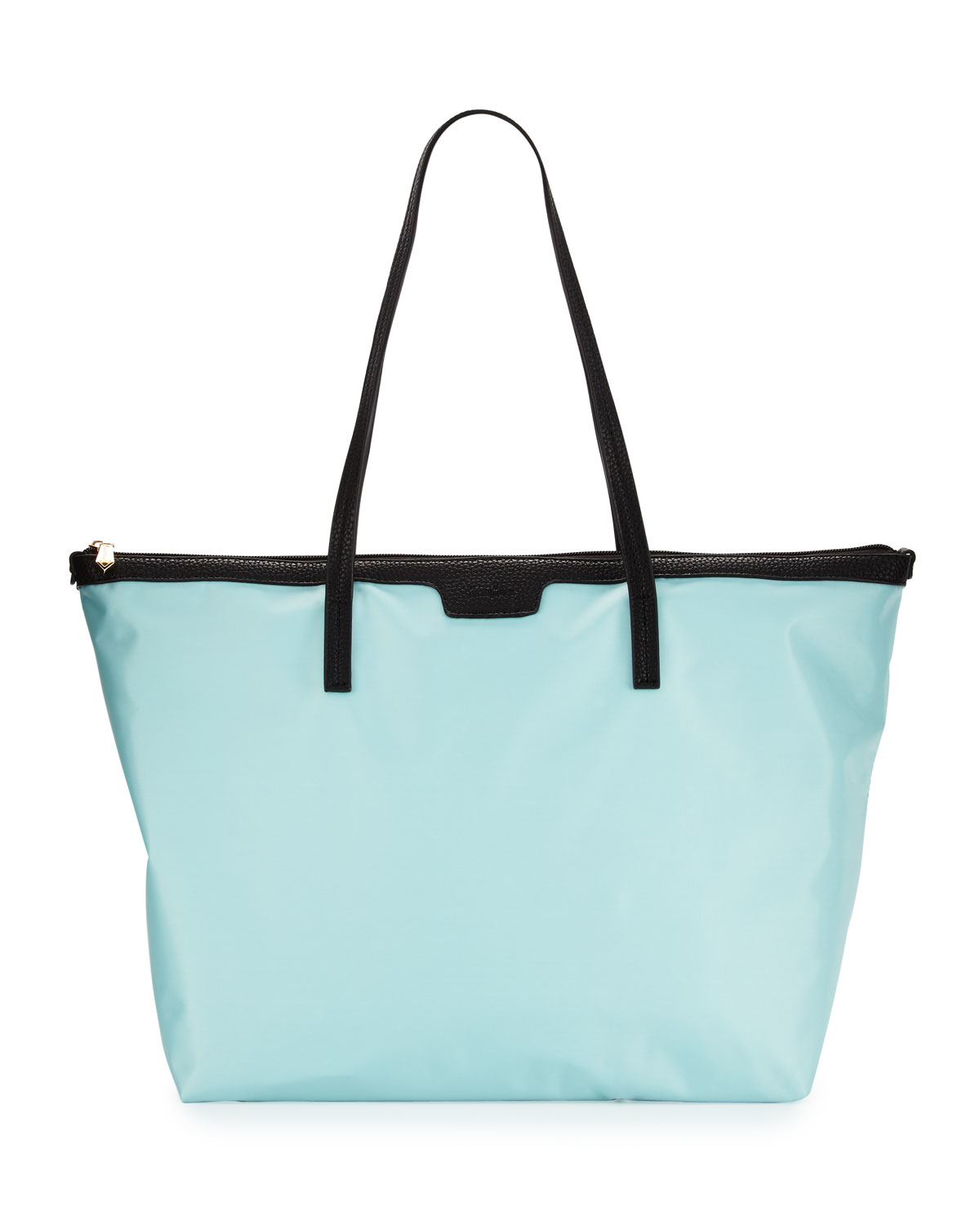 Neiman marcus Miley Nylon Zip-top Tote Bag in Blue | Lyst