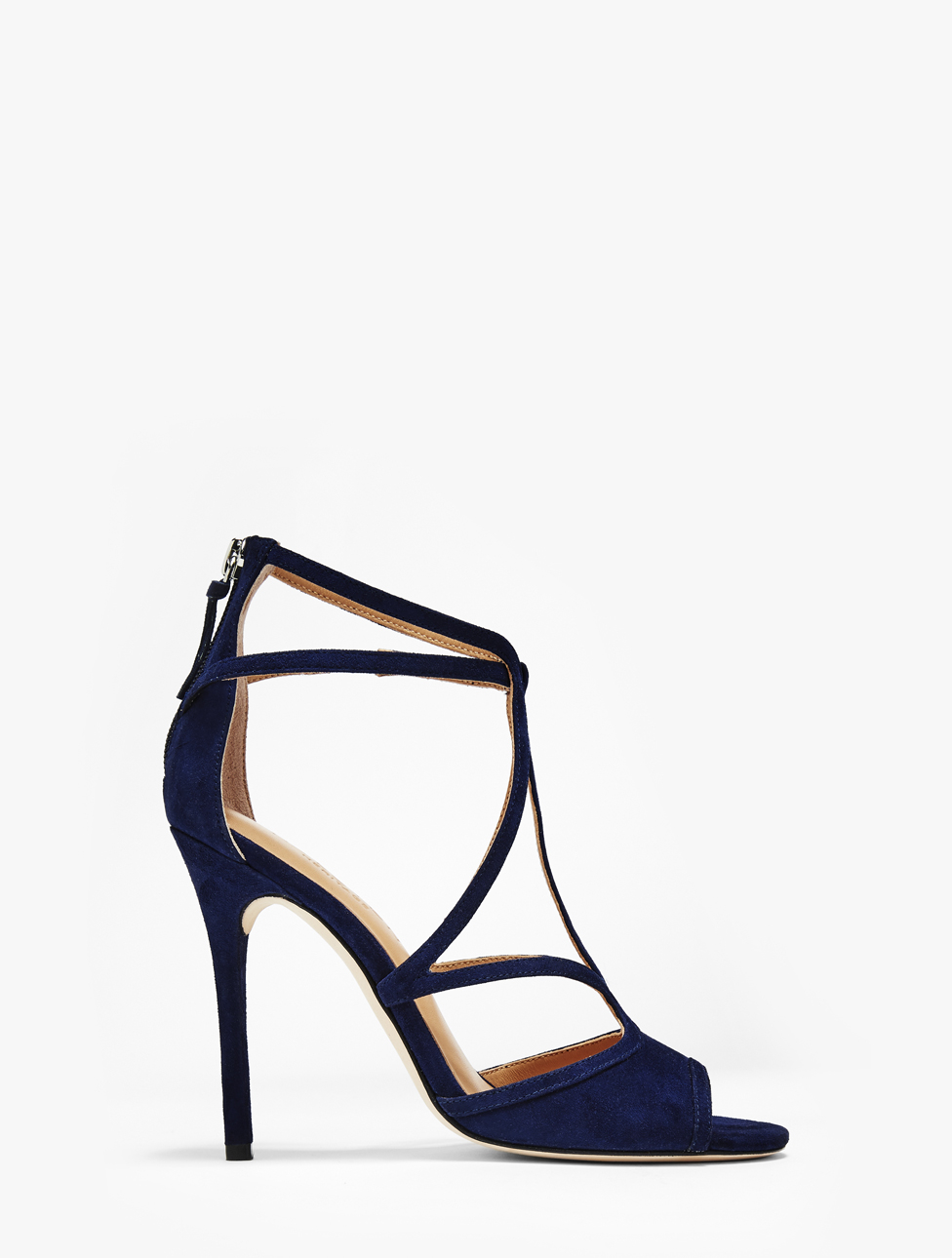 Lyst - Halston Monica Leather High Heel Sandal in Black