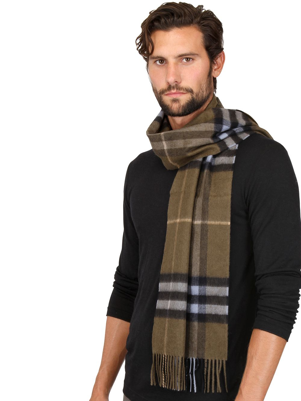 burberry check pattern scarf in for