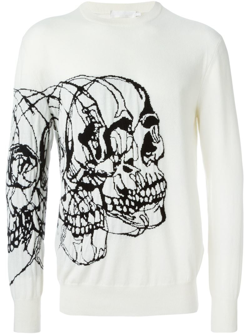 skull intarsia sweater - Black Alexander McQueen Recommend Cheap XMPBzmPR1