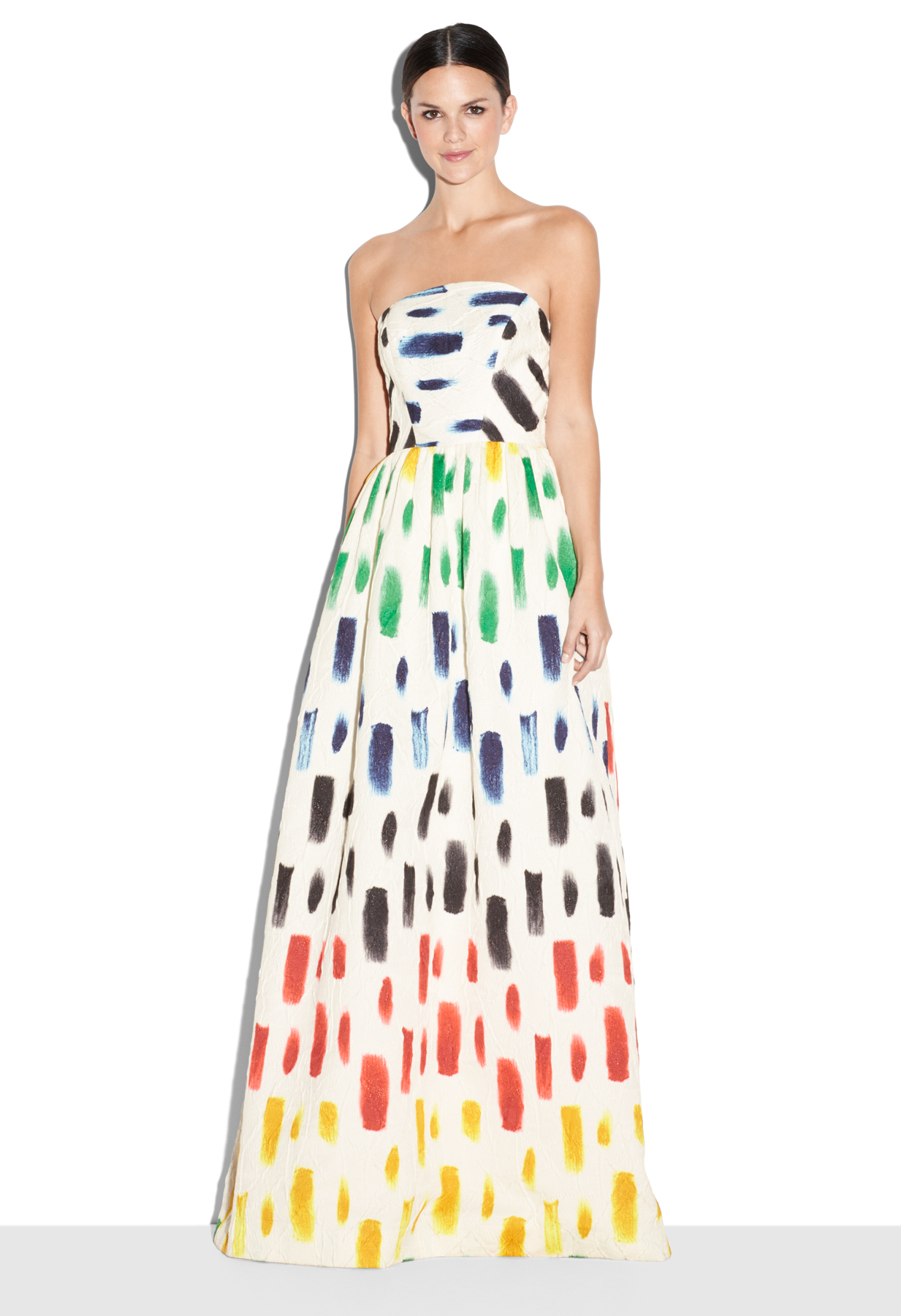 Lyst - Milly Brushstroke Print Bella Slim Gown