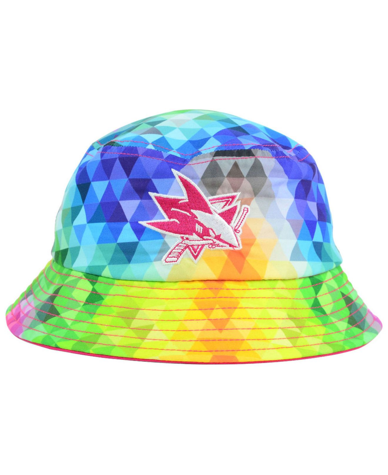 check out 91141 2afc0 ... cheapest ktz multicolor girls san jose sharks gem bucket hat lyst 4c86e  c6535