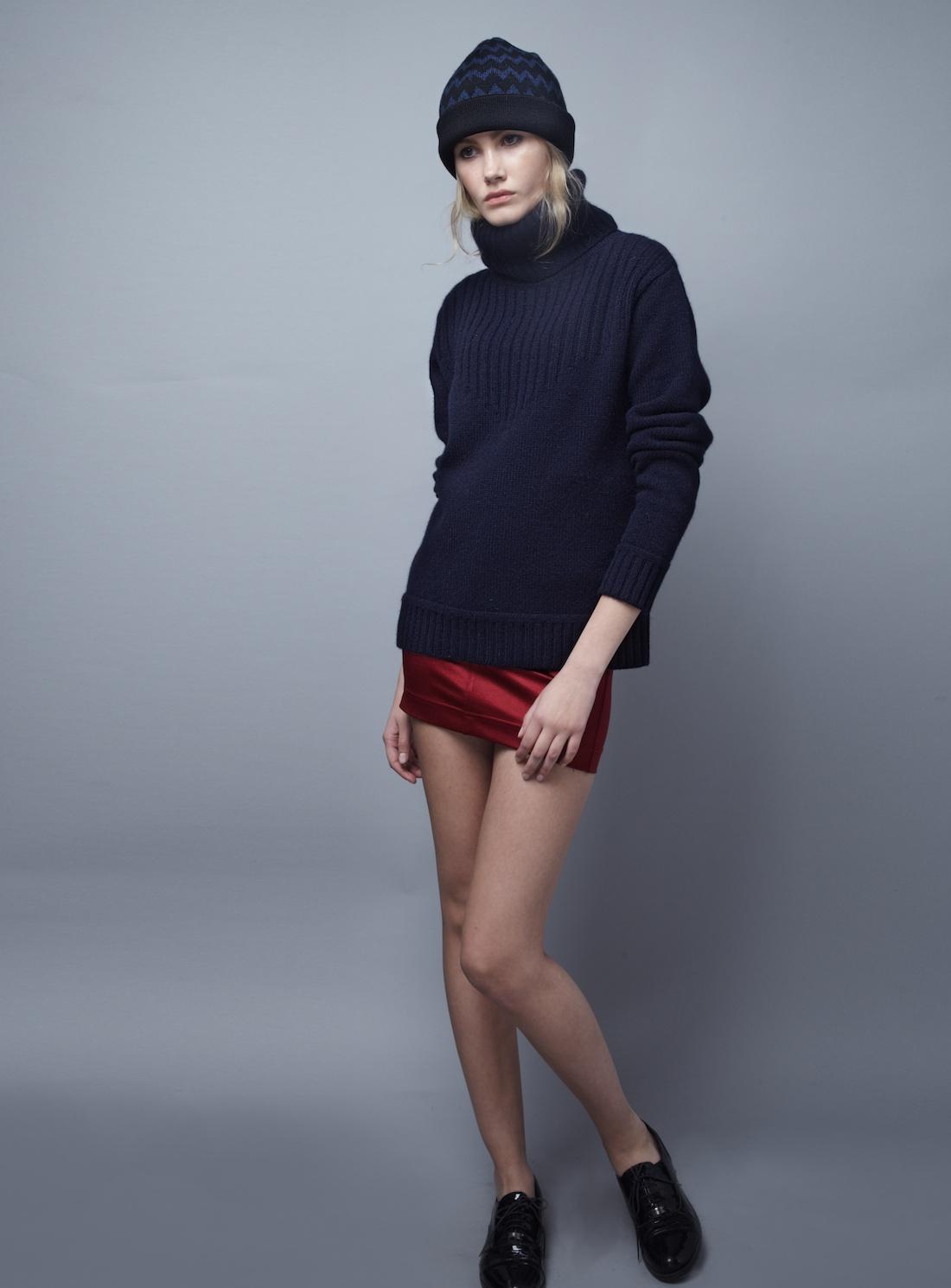 Blake ldn Navy Redfern Turtleneck Sweater- Last One By in Blue | Lyst
