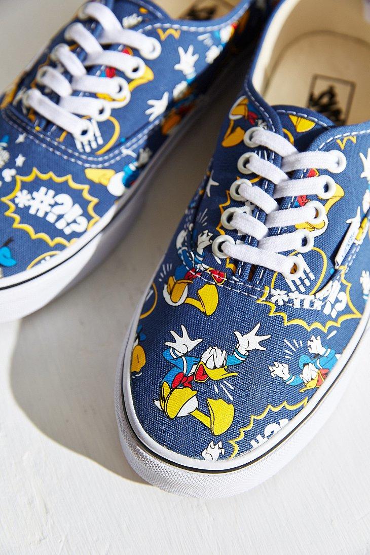 Lyst Vans Authentic Donald Duck Sneaker In Yellow