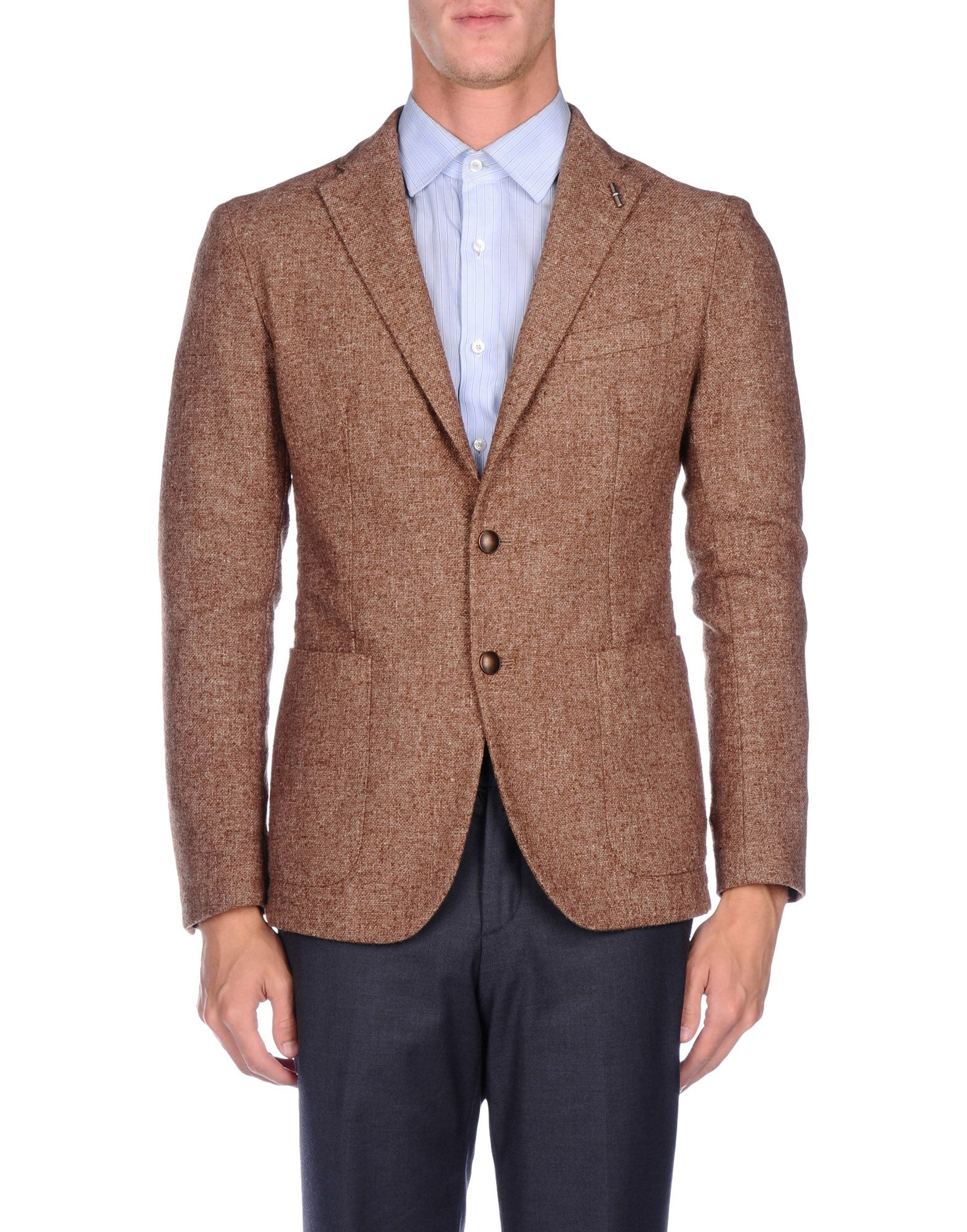 Tagliatore Blazer In Brown For Men | Lyst