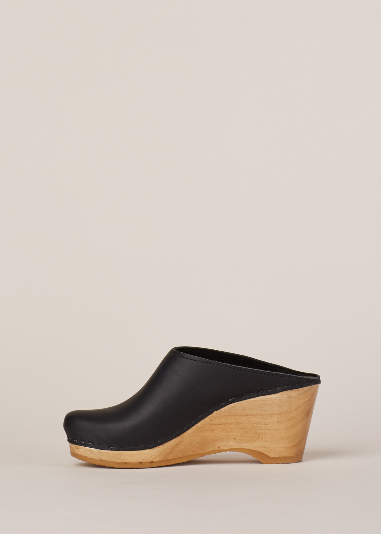 Lyst No 6 Black Natural New School Clog Wedge In Black