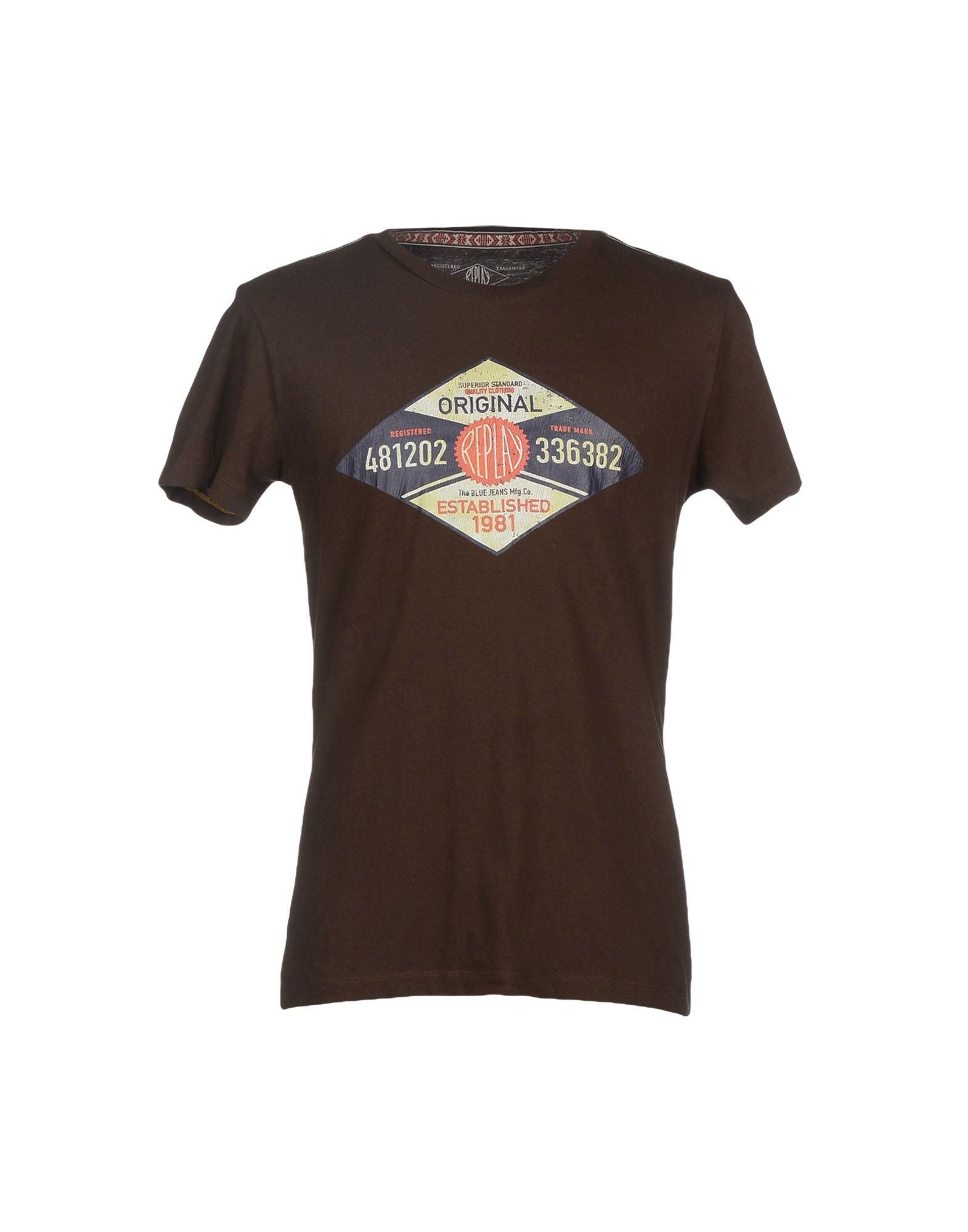 replay t shirt in brown for men lyst. Black Bedroom Furniture Sets. Home Design Ideas