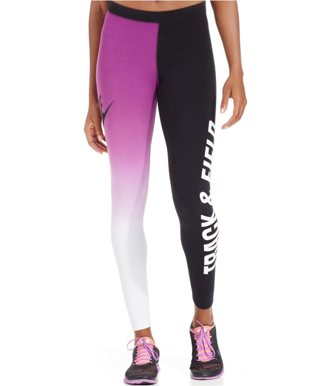 brand new 78088 4eb24 Nike Running Printed Leggings in White - Lyst