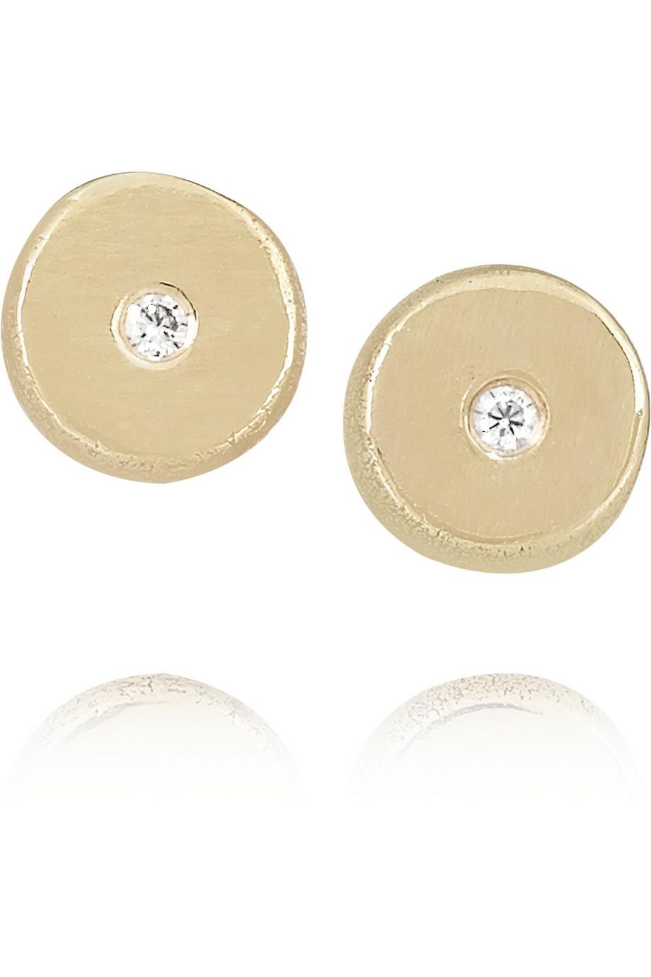 Melissa Joy Manning 14-karat Gold Diamond Earrings oRDW6hWzvv