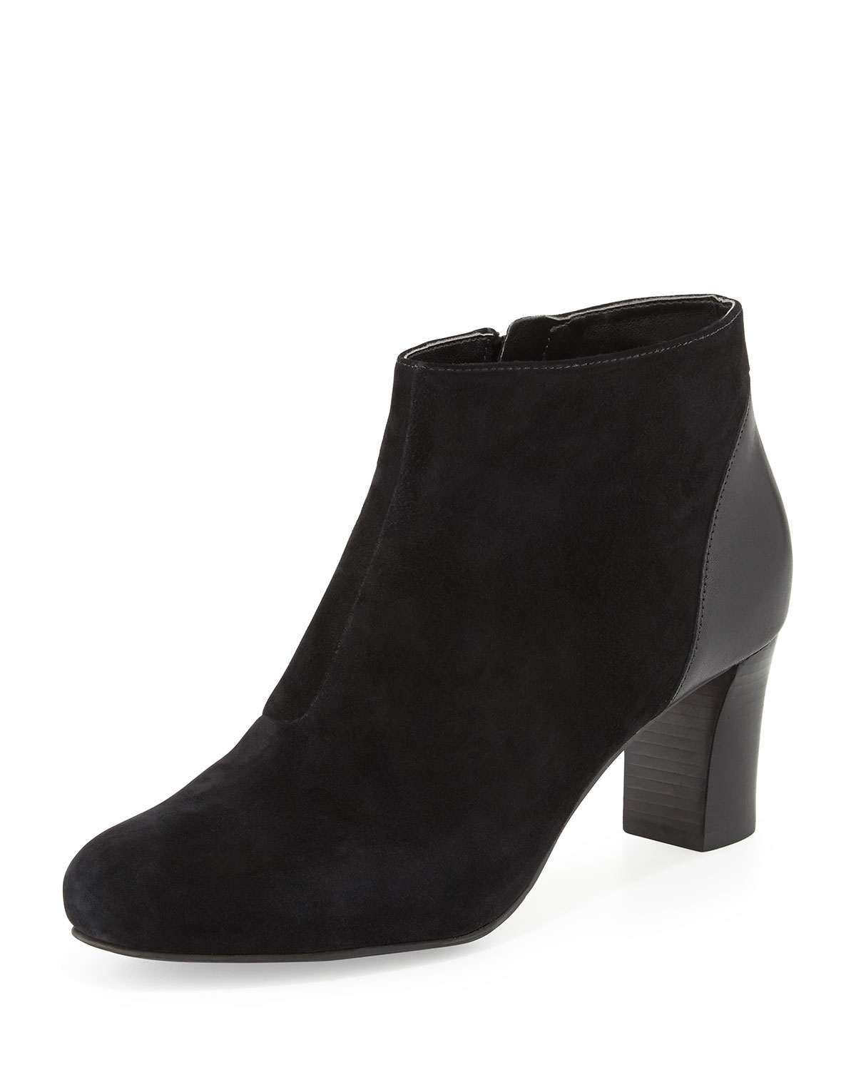 cole haan marina suede thigh high boots in black