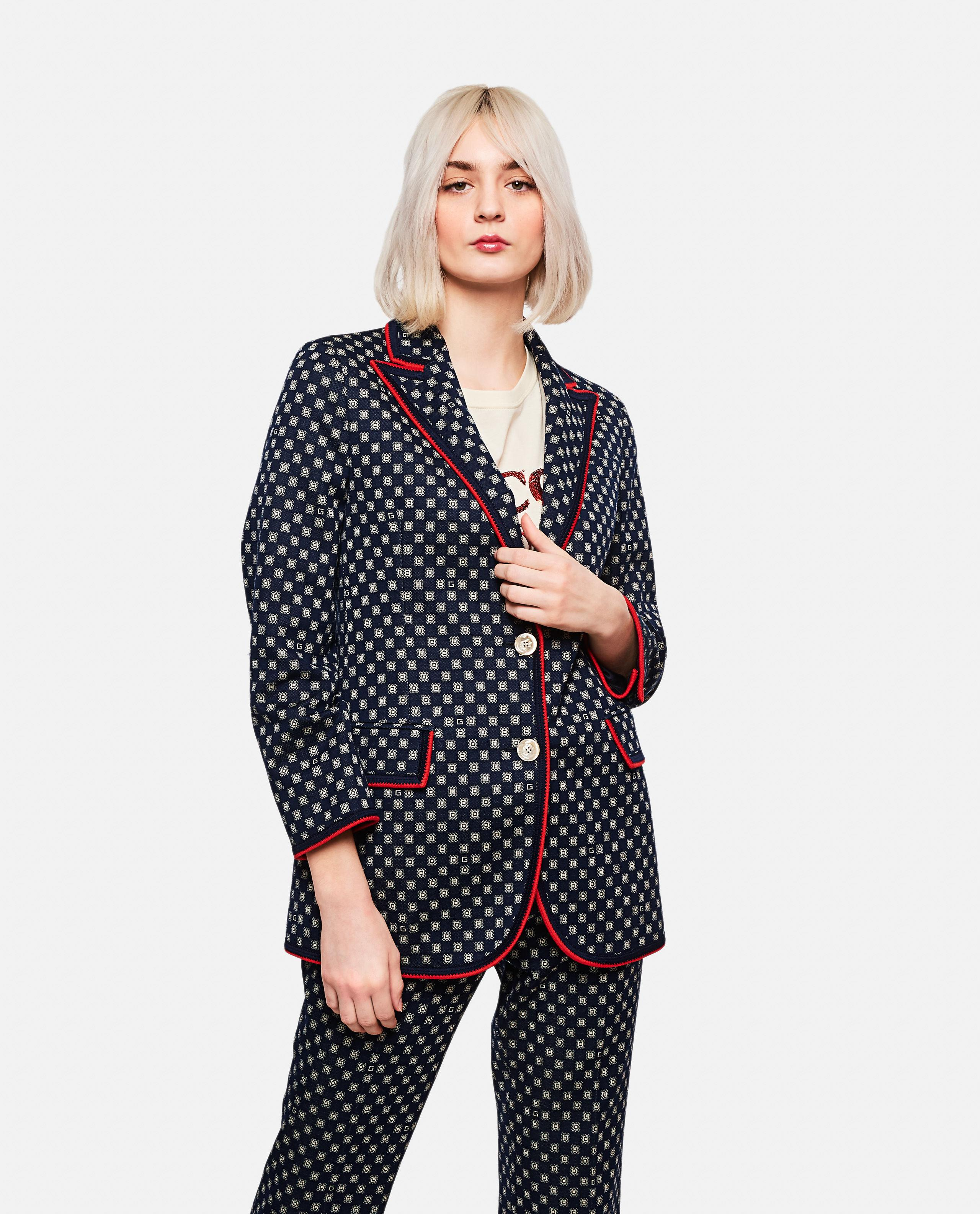 a05b26746691c6 Lyst - Gucci Jersey Jacket in Black