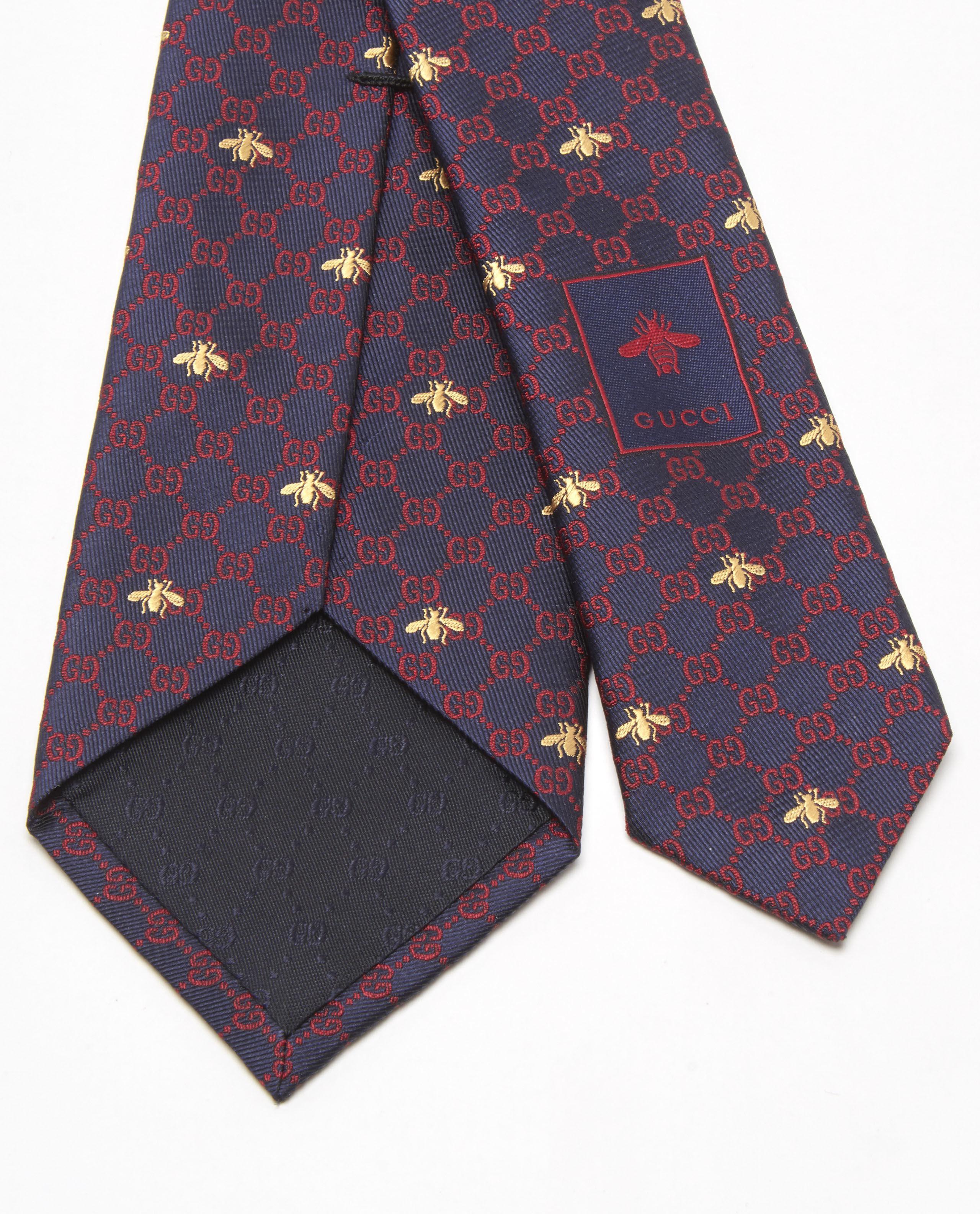 5c8e6c7f85c0f Lyst - Gucci GG Bees Silk Tie in Blue for Men