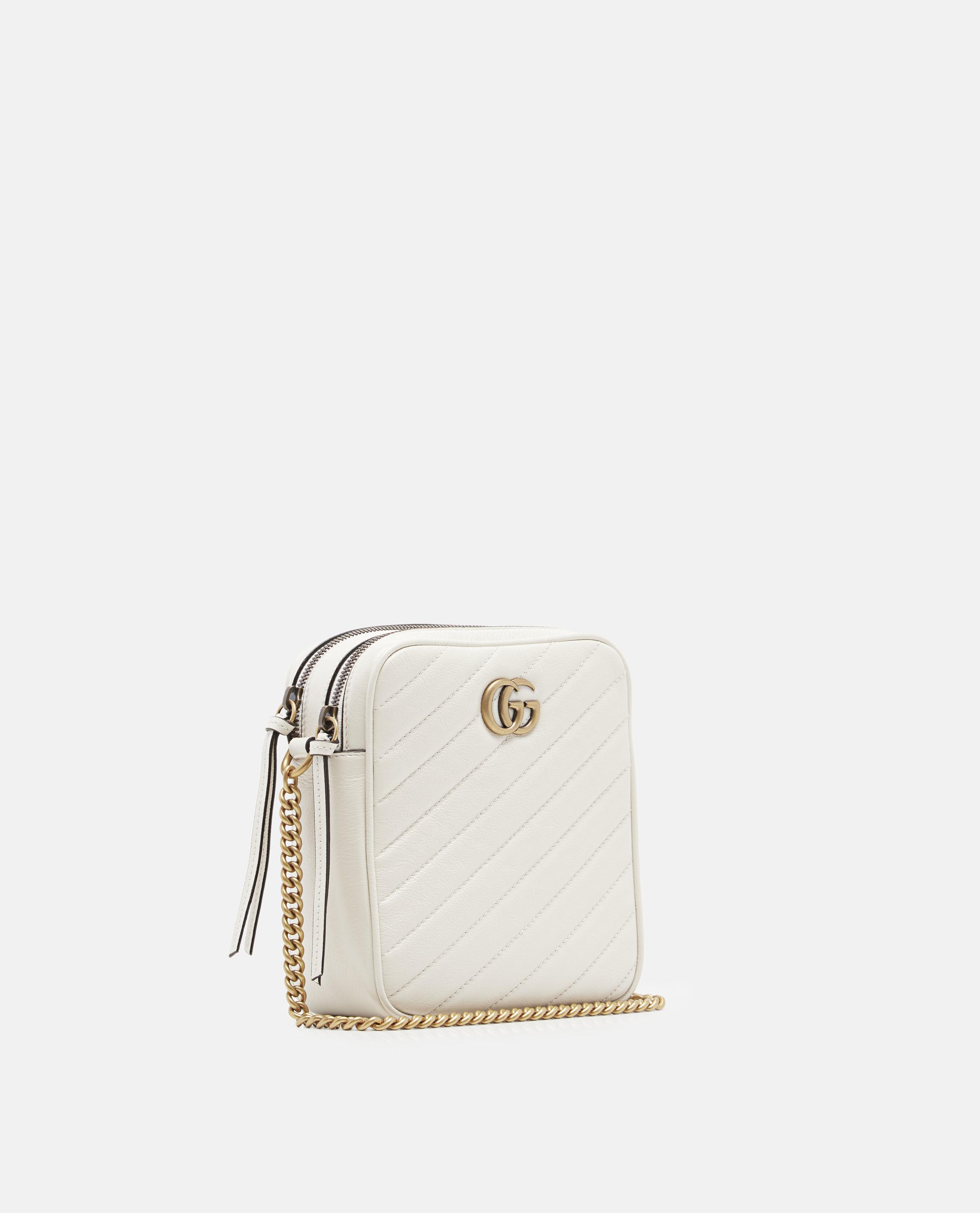 Lyst - Gucci GG Marmont Mini Shoulder Bag in Natural 18e9c3ebb995a