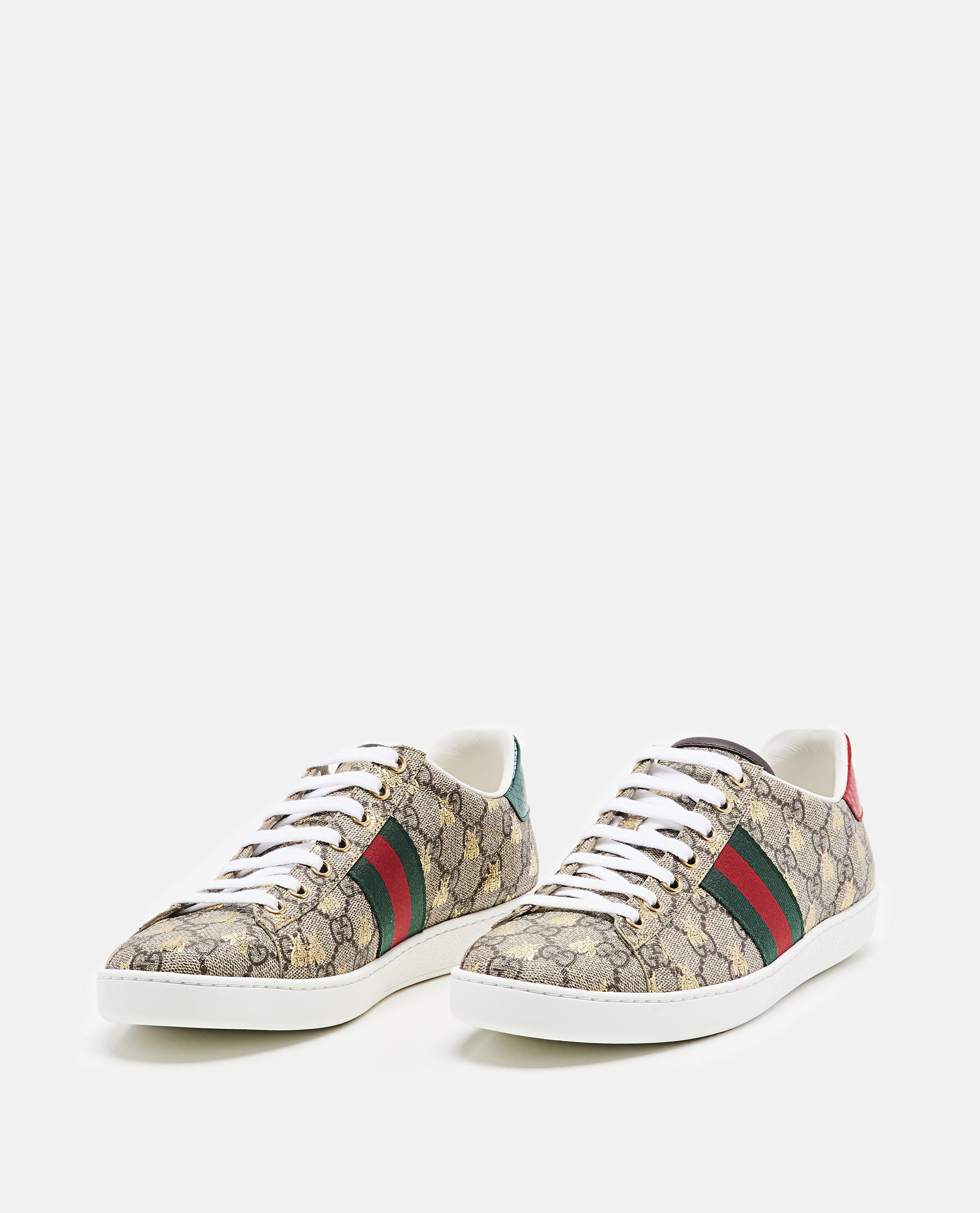 ef9095ac0 Gucci Ace Gg Supreme Sneaker With Bees in Metallic - Lyst