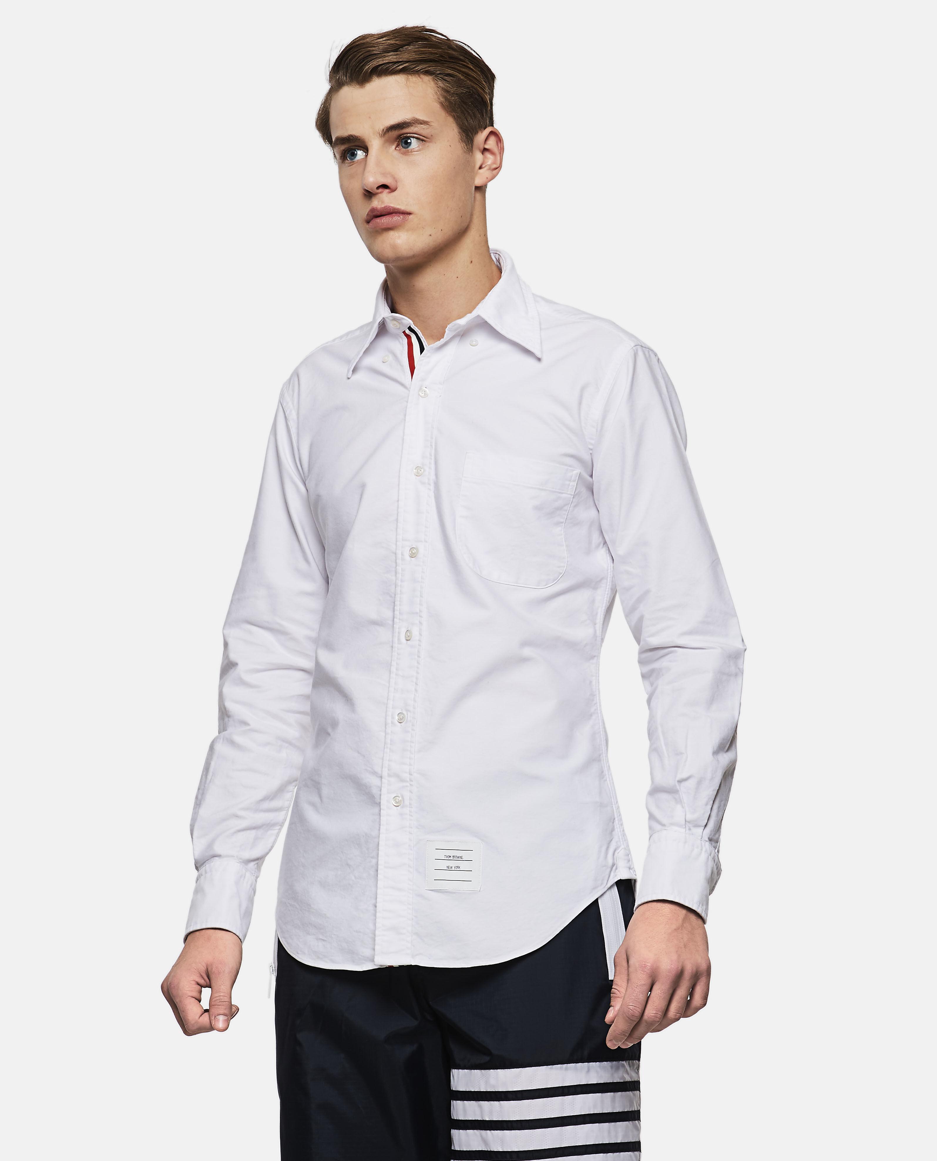 a4c9c7a97c1 Thom Browne - White Botton Down Shirt for Men - Lyst. View fullscreen