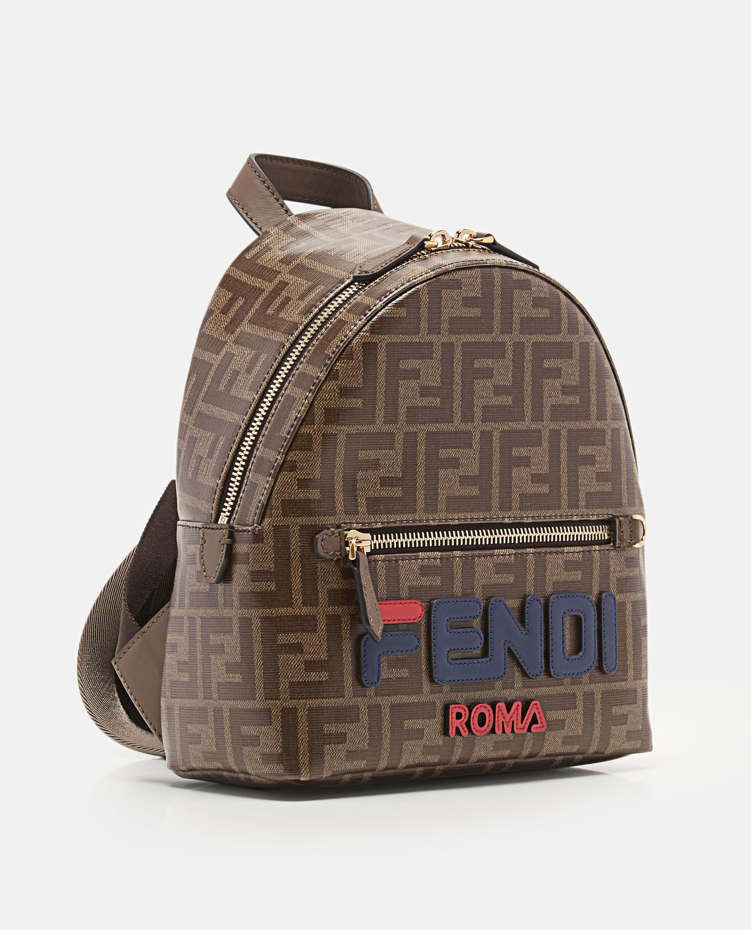 c3c5c3a6a293 Lyst - Fendi Leather-trimmed Printed Coated-canvas Backpack in Brown