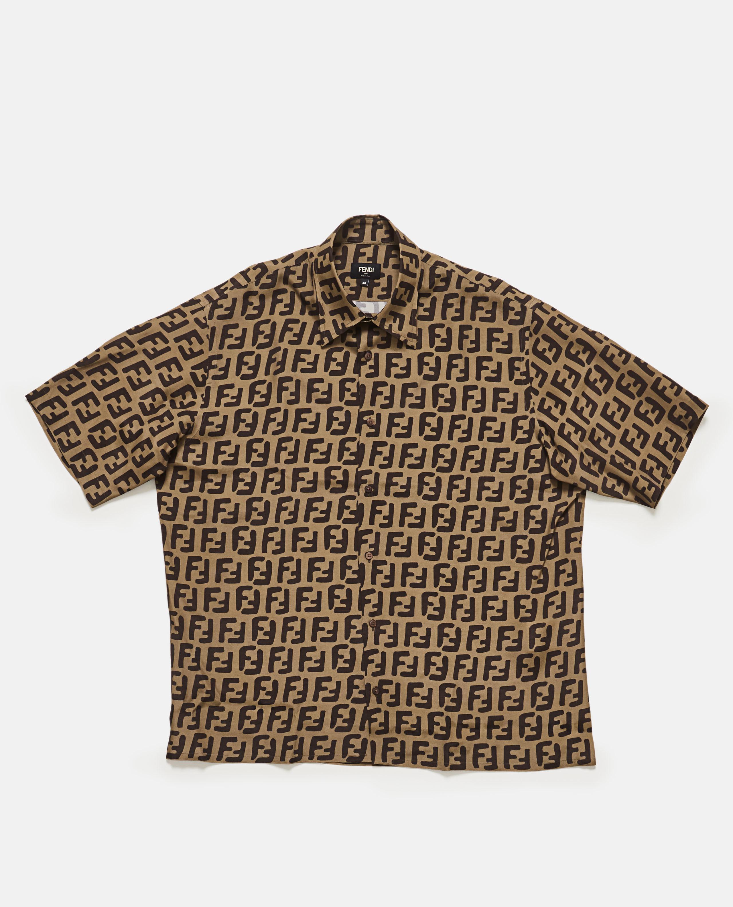 f6822c903894 Lyst - Fendi Ff Pattern Shirt in Brown for Men