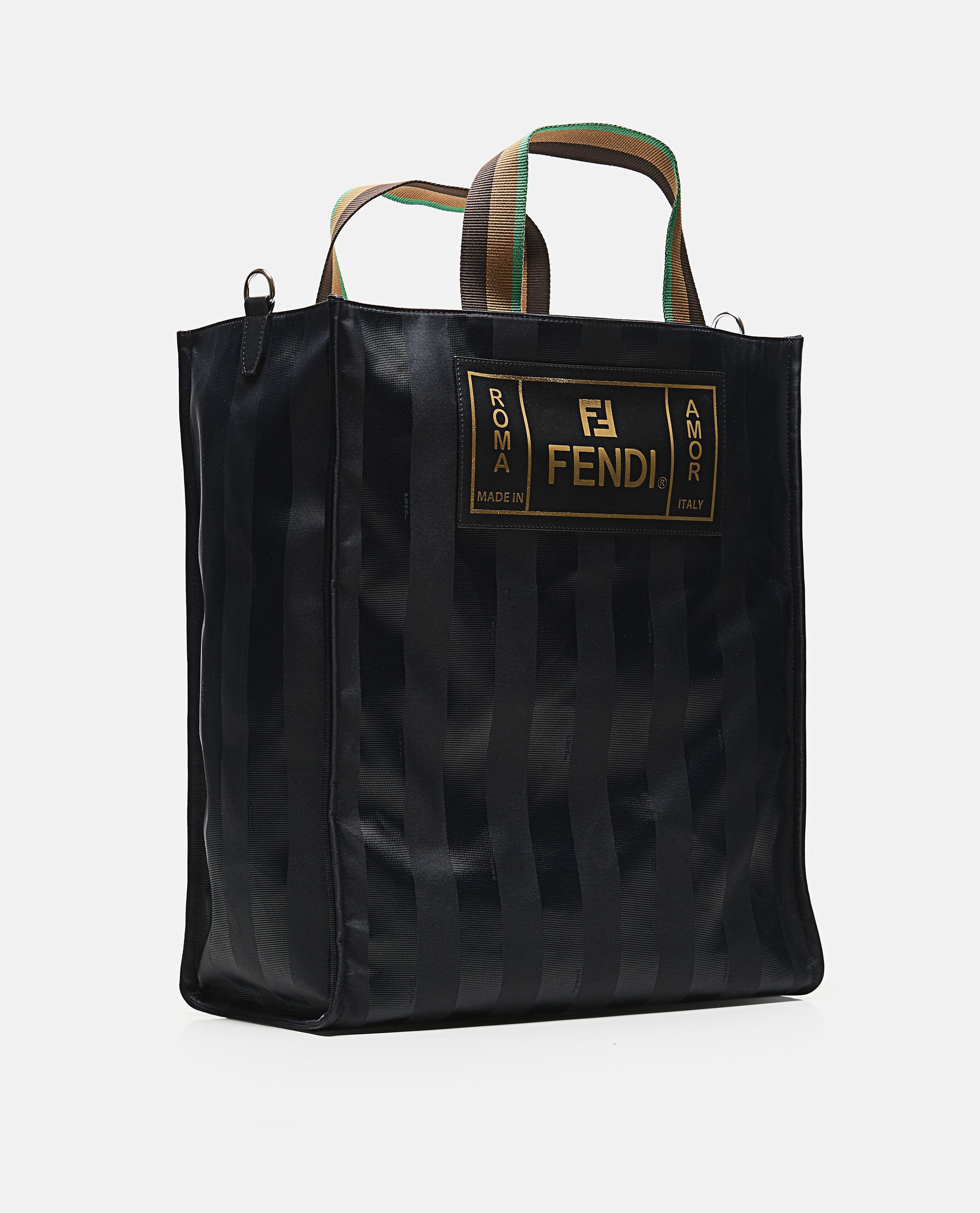 088d0d4198fd Fendi Striped Tote Bag in Black for Men - Save 31% - Lyst