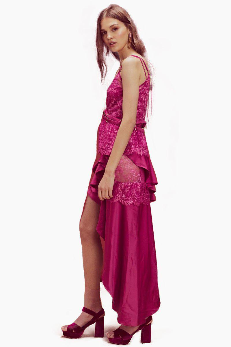 2f74f090b3f For Love   Lemons Sabina Layered Maxi Dress - Fuschia - Lyst