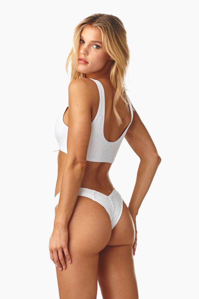 7bed7d39cecda Lyst - Montce Swim Uno Brazilian Cut Scrunch Bikini Bottom - White ...