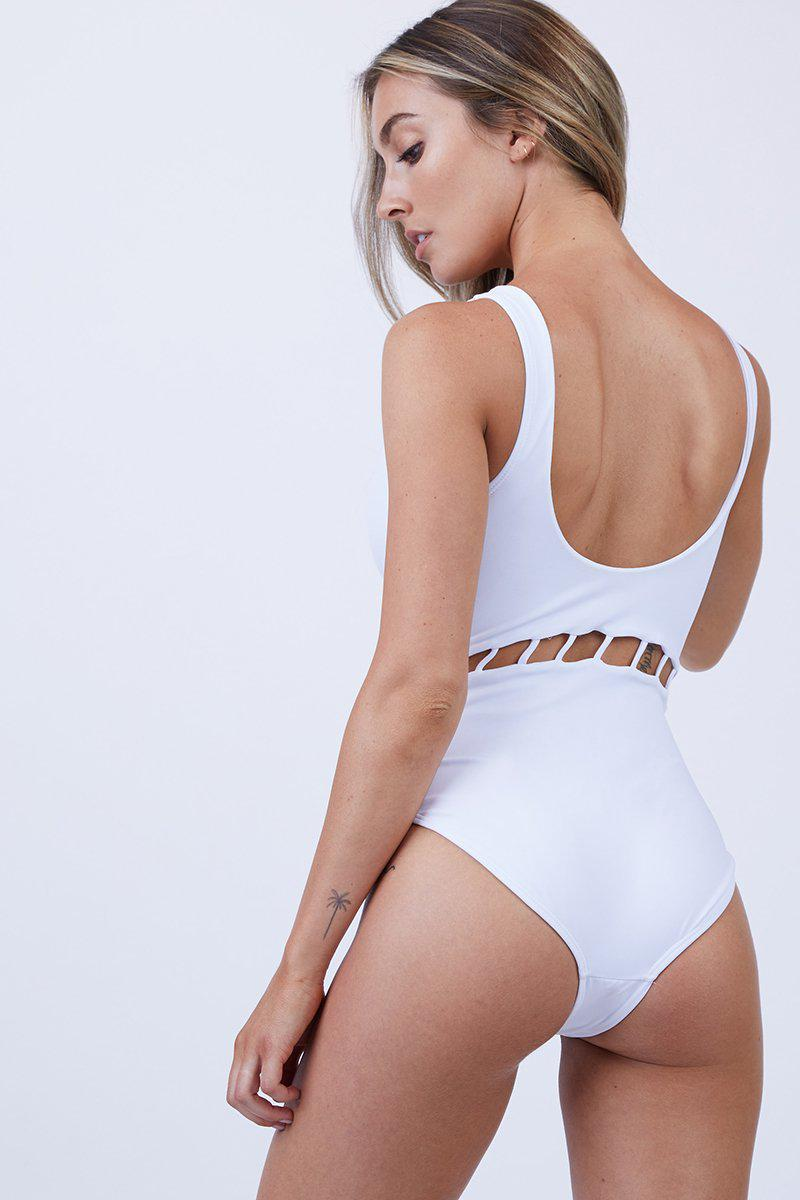 869cfa1840a8b Lyst - Peixoto Jade Full One Piece Swimsuit - White in White