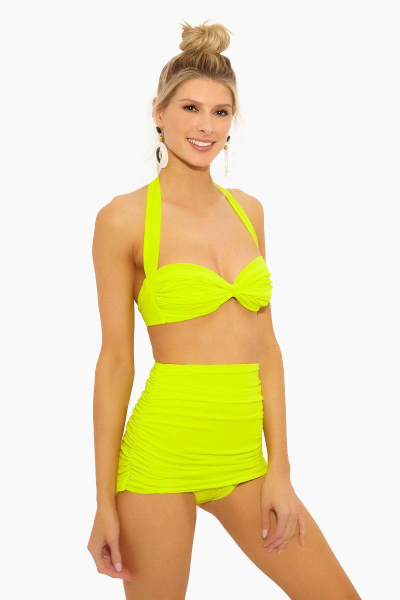 ad939d564b Norma Kamali - Yellow Bill High Waist Bikini Bottom - Acid - Lyst. View  fullscreen