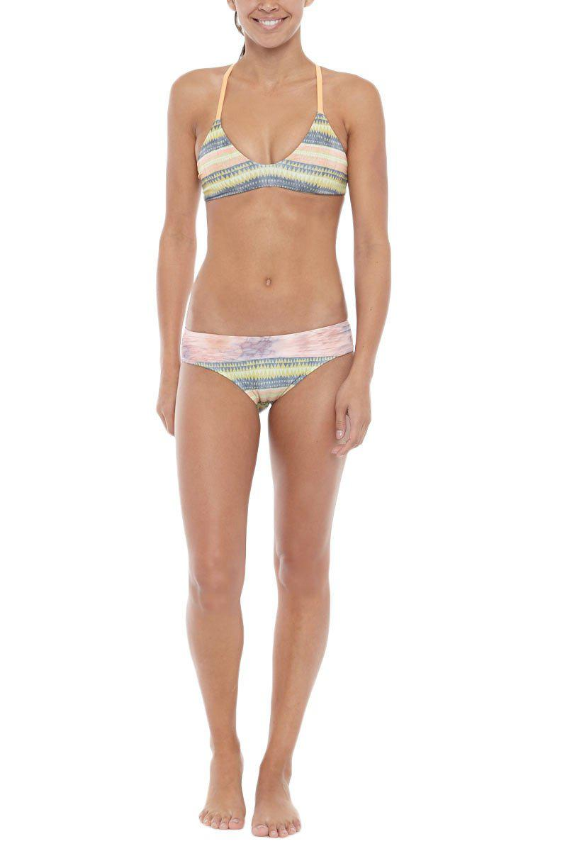 1e350c1197 Seea - Multicolor Adria Wise Waistband Color Blocked Bikini Bottom - Alamo  Print - Lyst. View fullscreen
