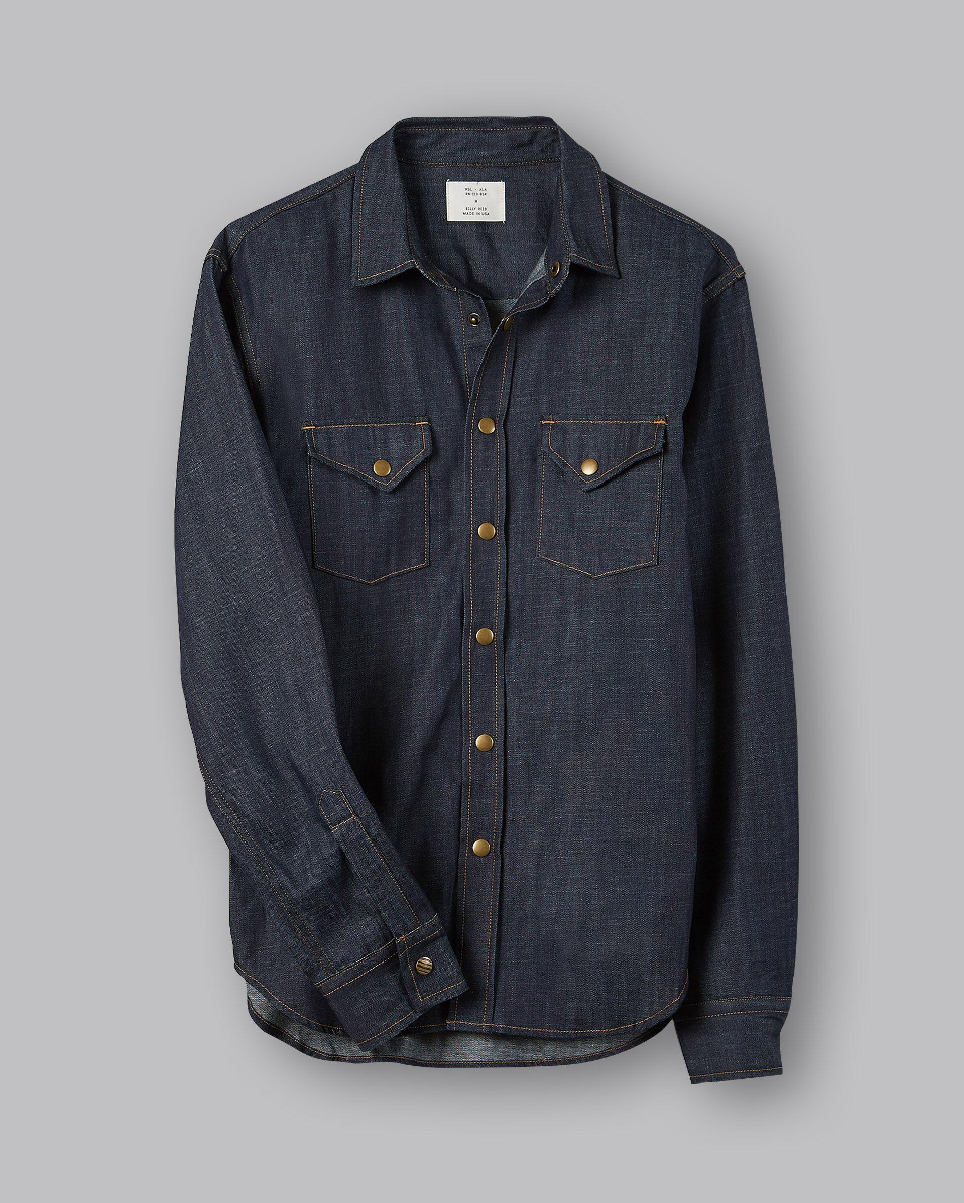 dc213093f4 Billy Reid Denim Shirt in Blue for Men - Lyst