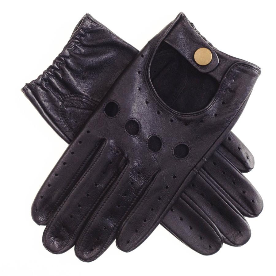 Mens leather touchscreen gloves uk - Black Co Uk Men S Black Leather Driving Gloves