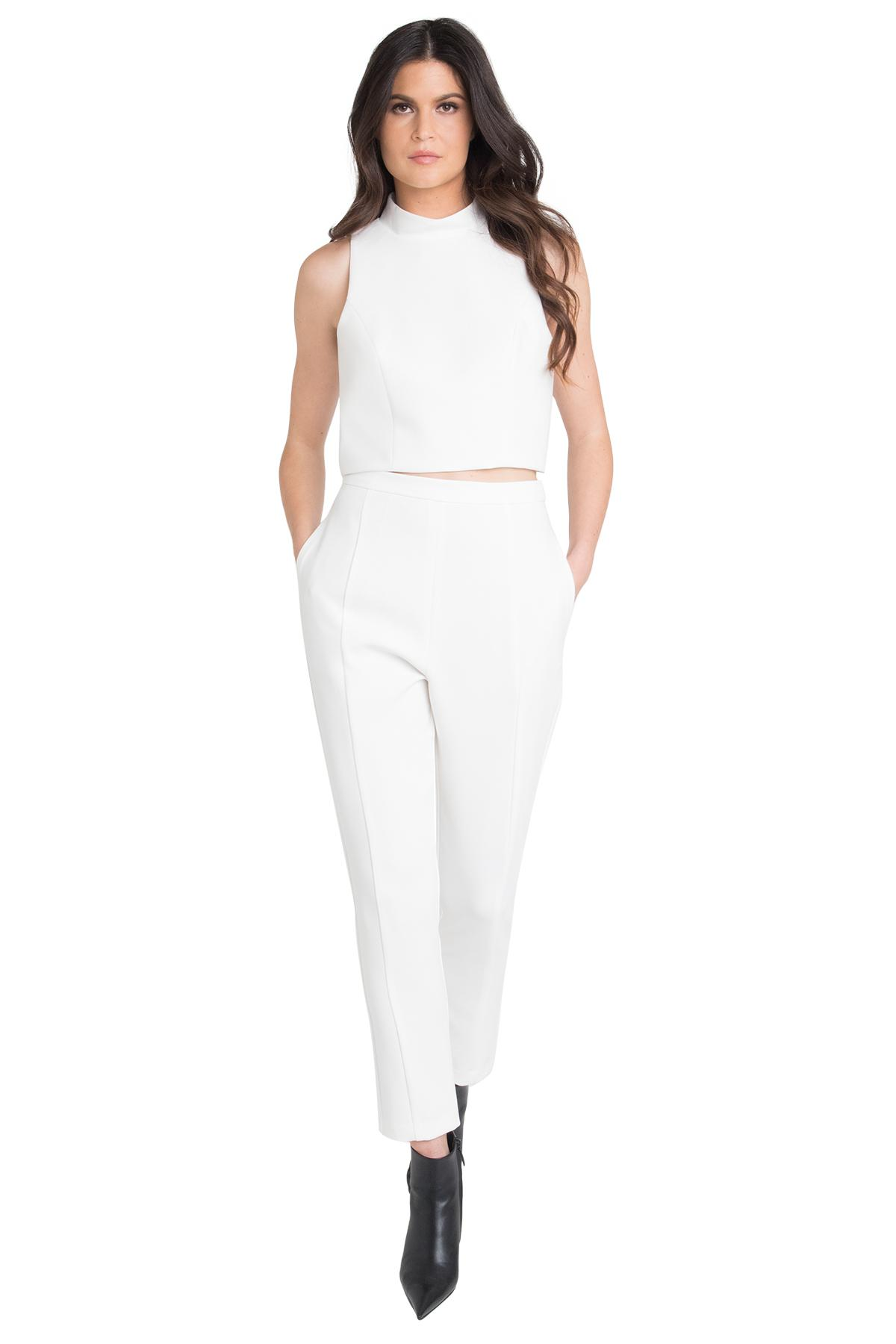 8a315d11a3bc Lyst - Black Halo Juma Two Piece Jumpsuit in White