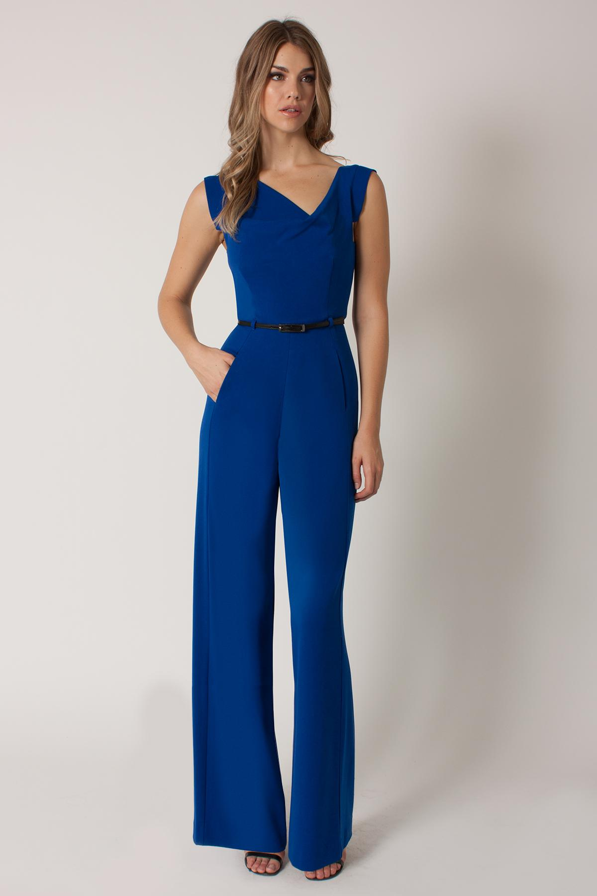 what haircut suits me lyst black halo jackie jumpsuit in blue 2467