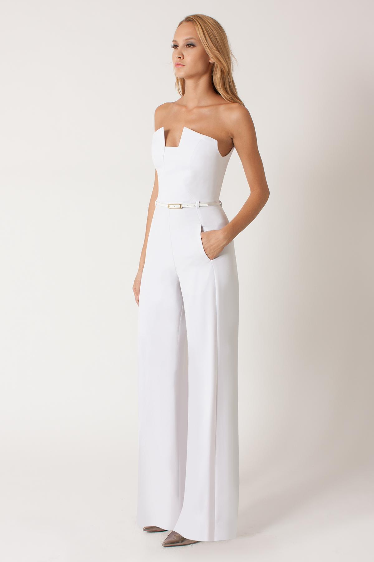Lyst Black Halo Lena Jumpsuit In White