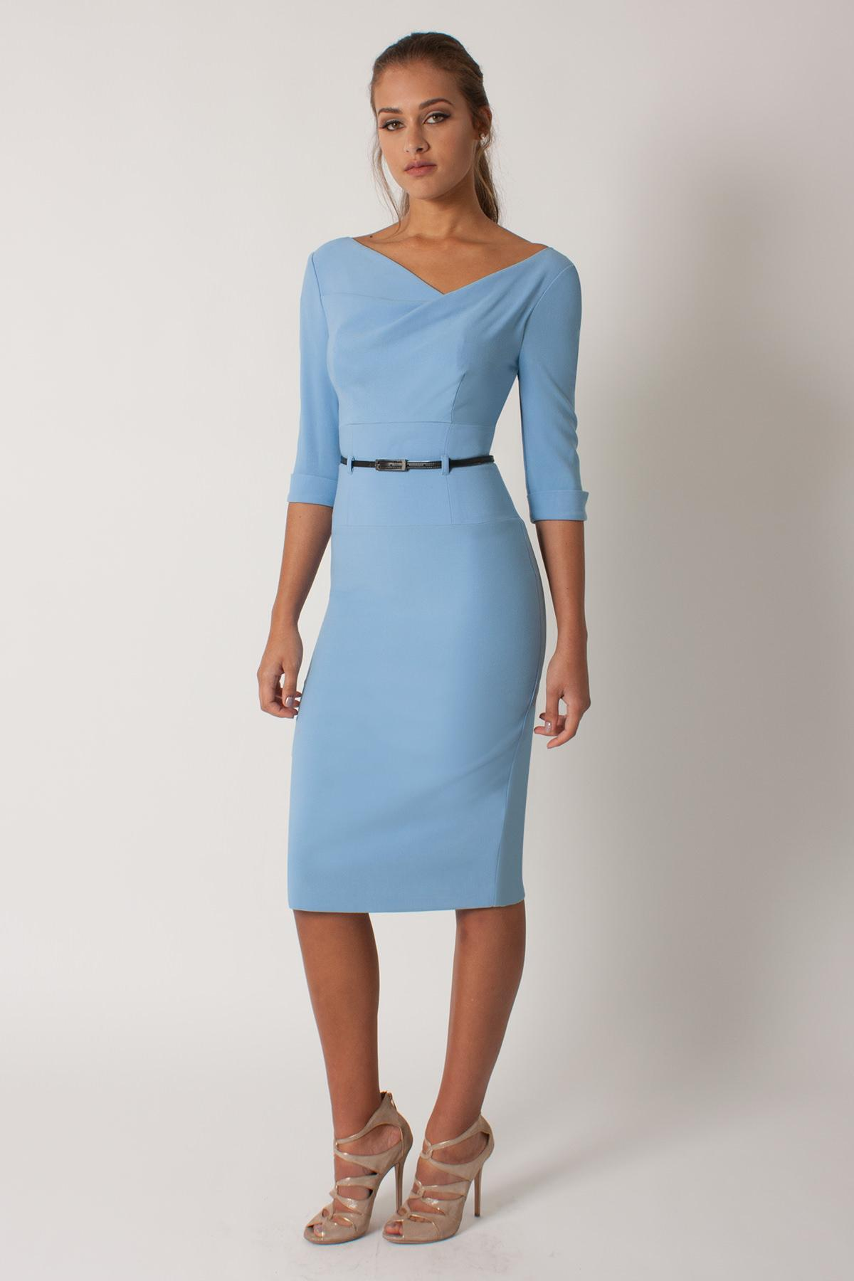 b49032426ec Black Halo 3 4 Slv Jackie O Dress in Blue - Lyst