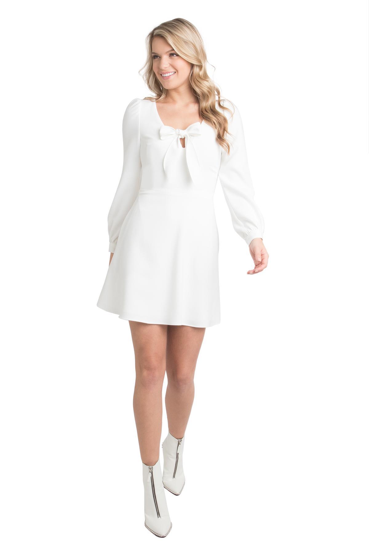 6fe5d1335e Lyst - Black Halo Ellen Mini in White