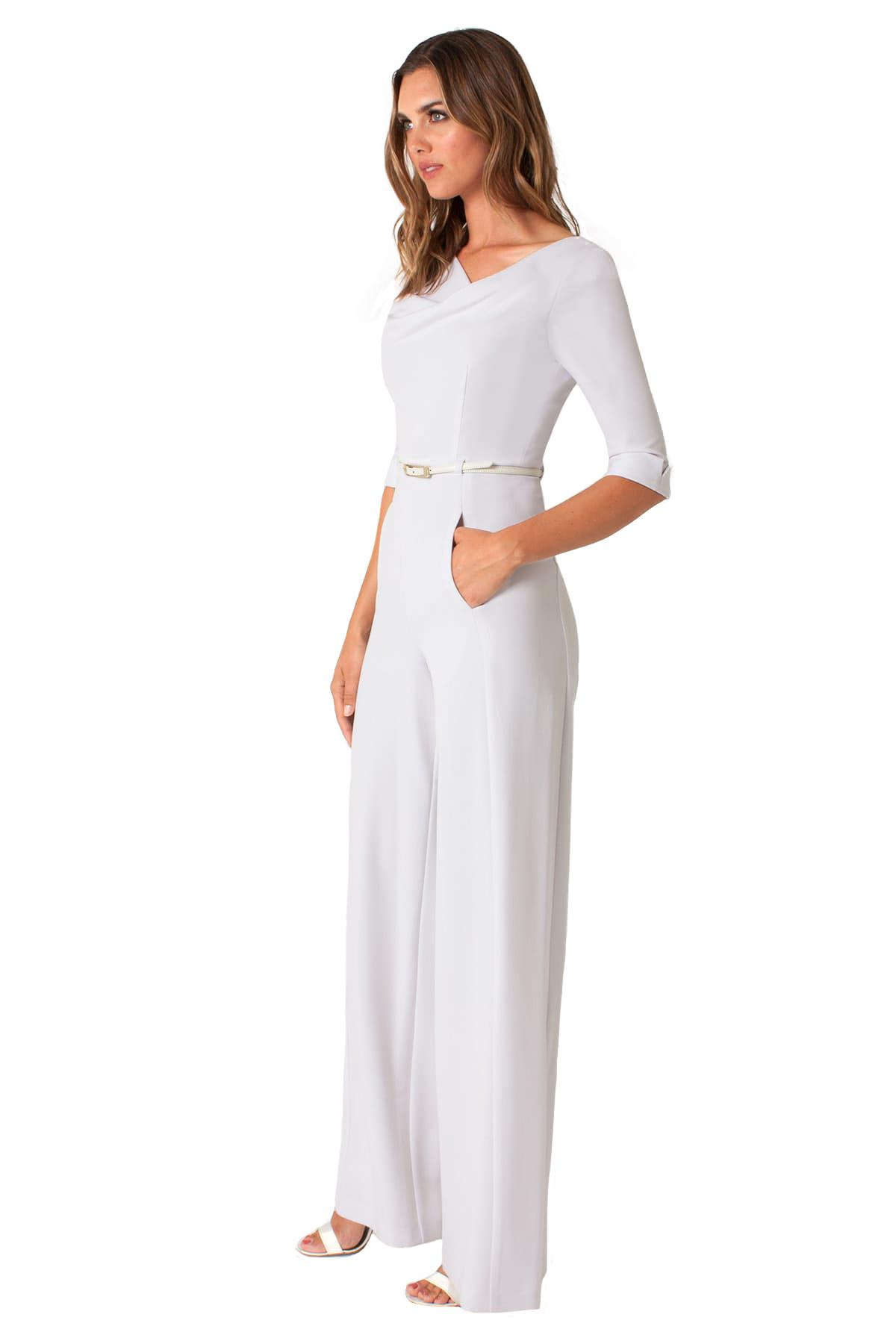 Lyst Black Halo 34 Sleeve Jackie Jumpsuit In White